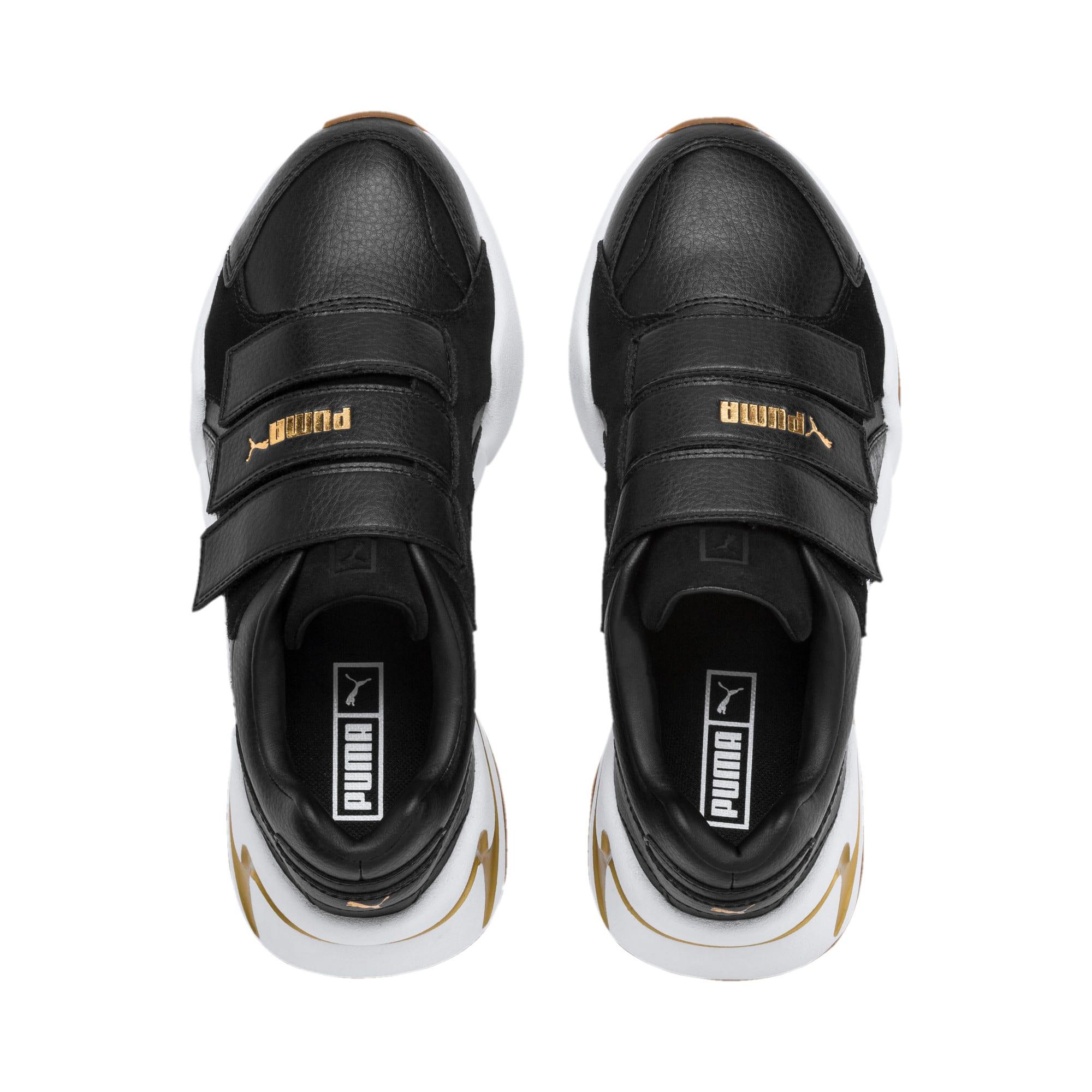 Thumbnail 7 of Nova V sportschoenen van leer voor dames, Puma Black-Puma Team Gold, medium