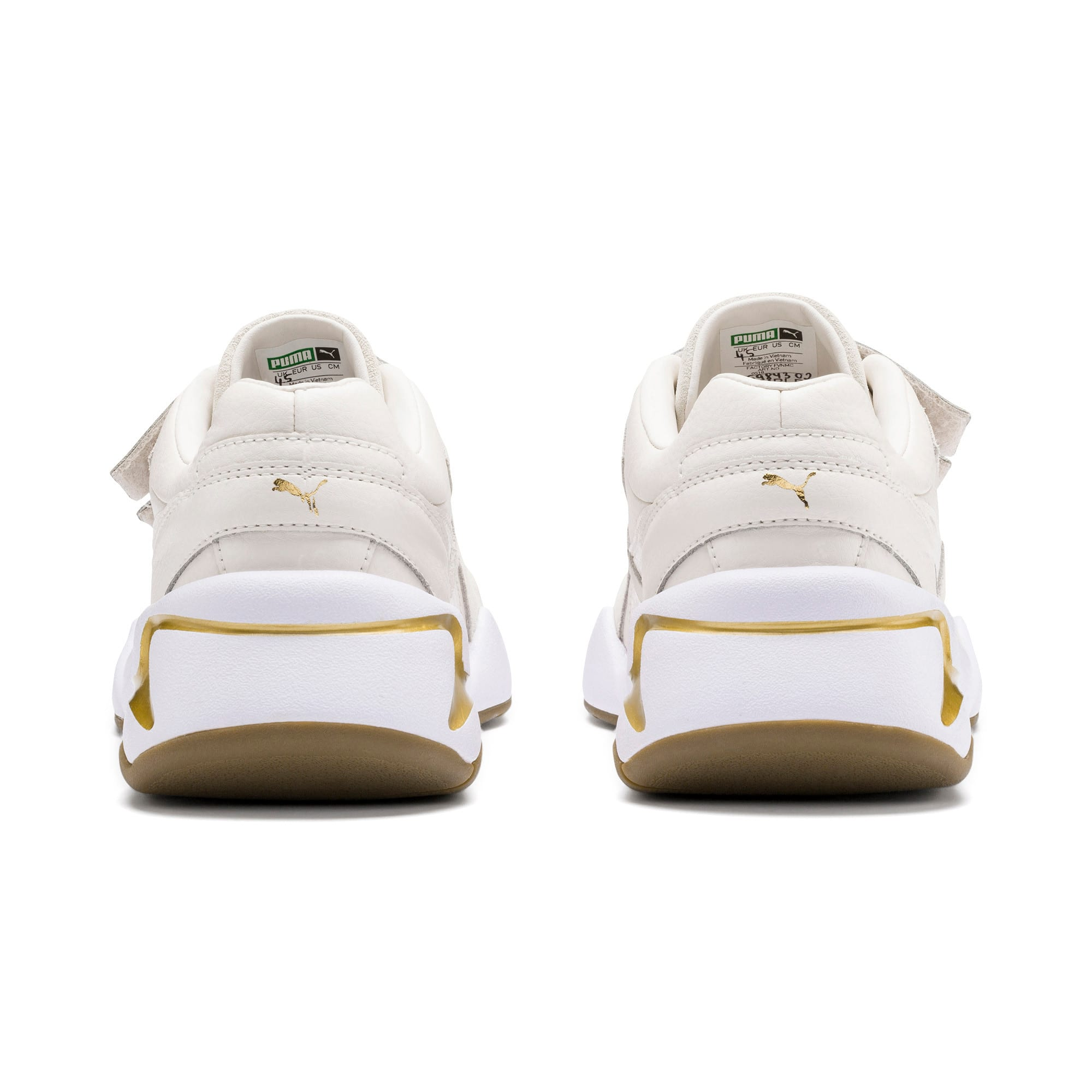 Thumbnail 4 of Nova V Leather Women's Trainers, Pastel Parchment-P.Team Gold, medium
