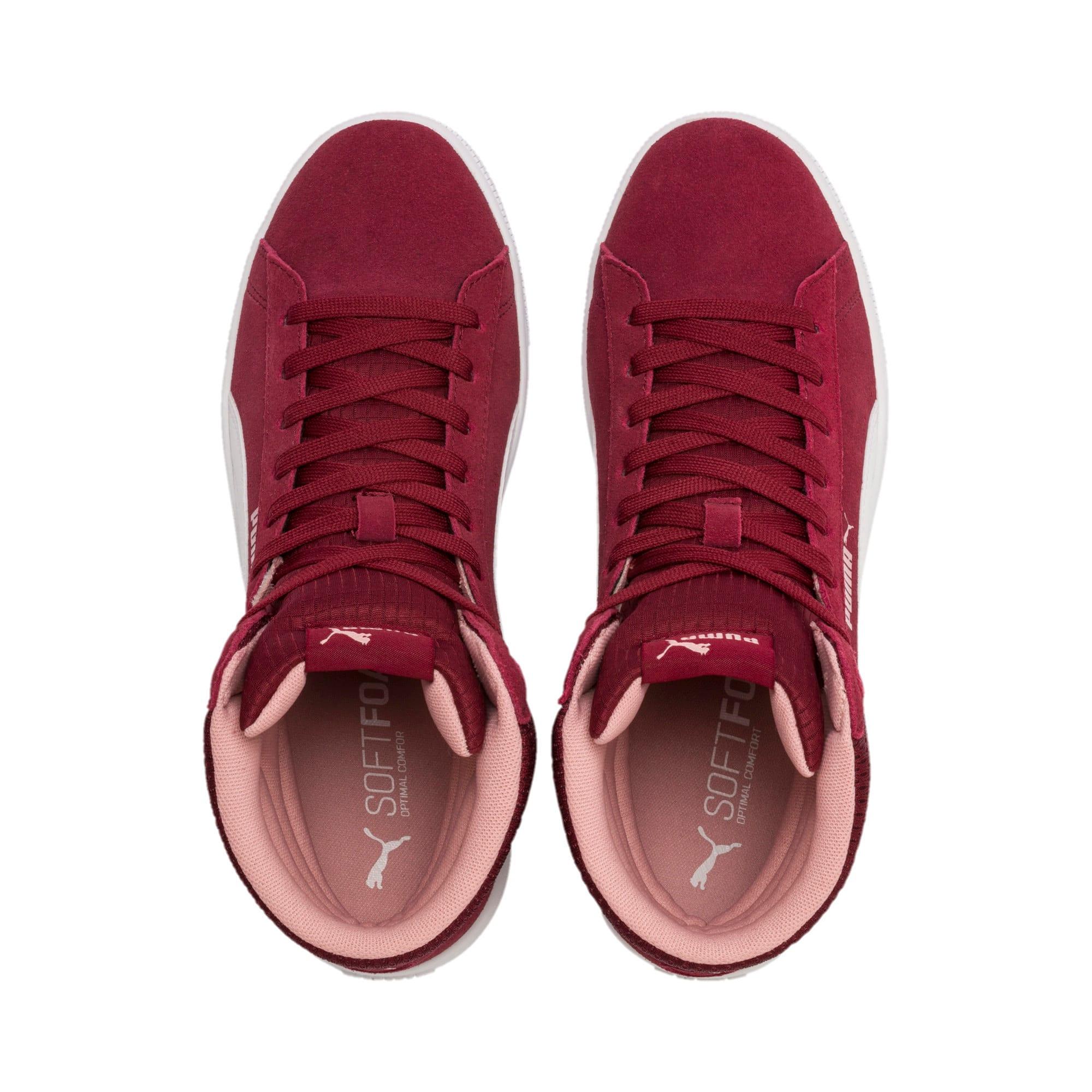 Thumbnail 3 of Vikky v2 Mid-Cut Women's Basketball Shoes, Cordovan-White-Bridal Rose, medium-IND