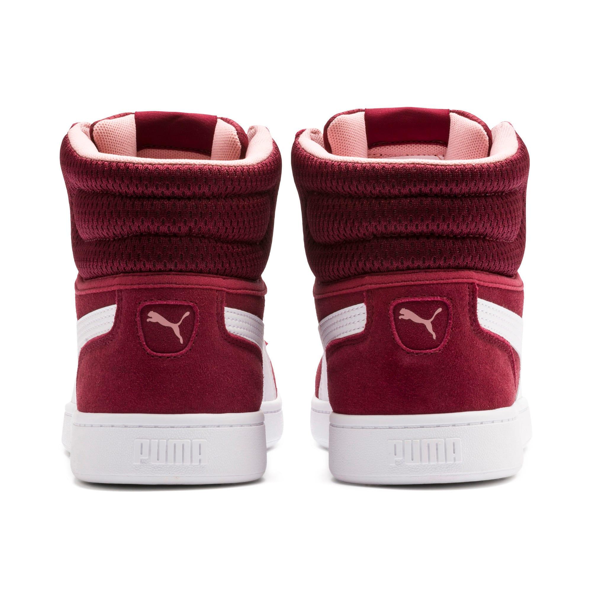 Thumbnail 5 of Vikky v2 Mid-Cut Women's Basketball Shoes, Cordovan-White-Bridal Rose, medium-IND
