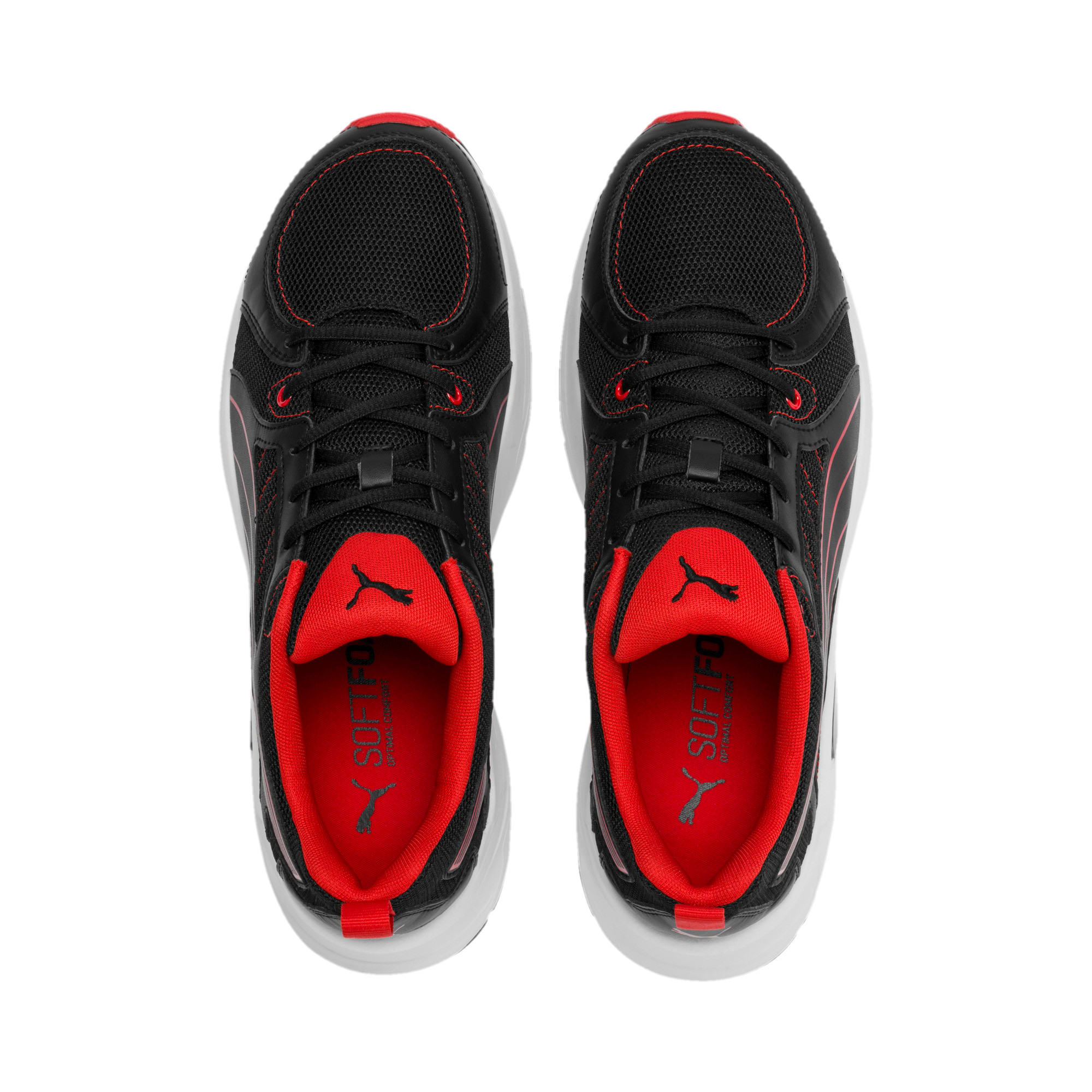 Nucleus Run Training Shoes, Puma Black-High Risk Red, large