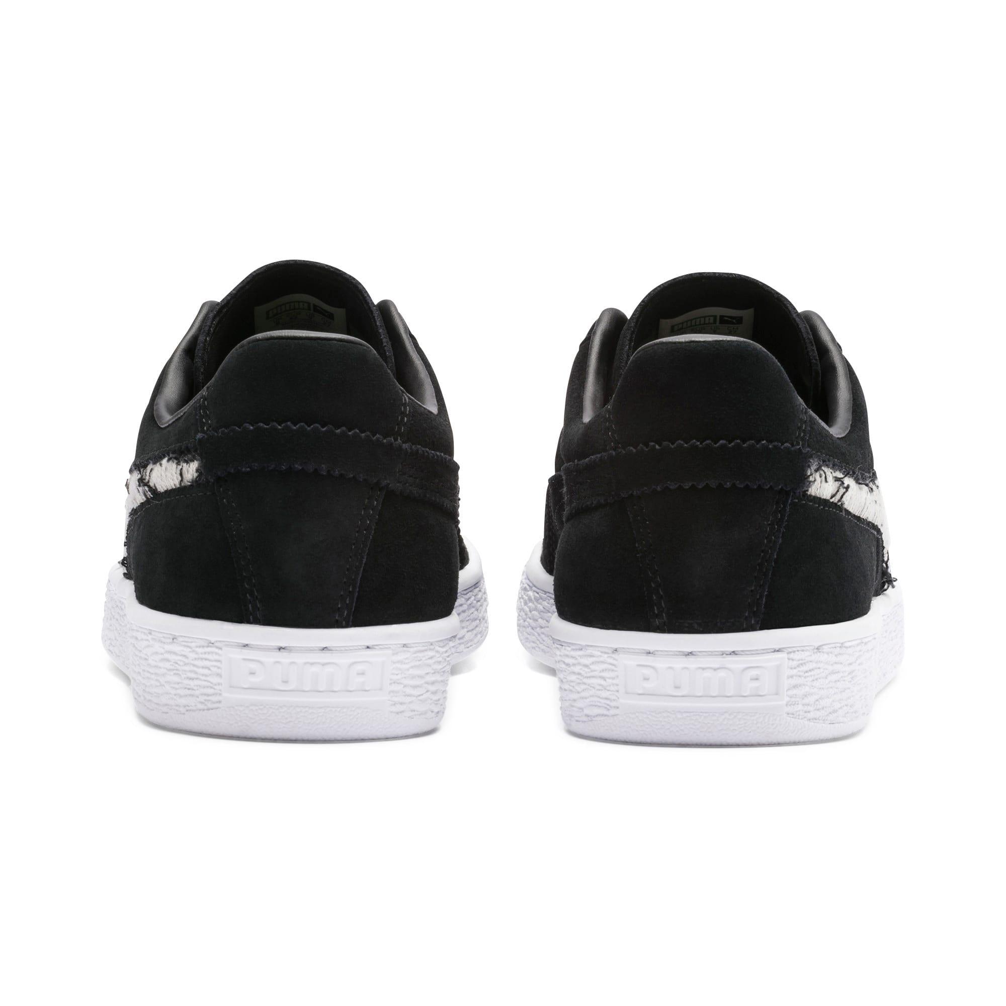 Thumbnail 5 of Suede Ripped Denim Sneakers, Puma Black-P Black-P White, medium