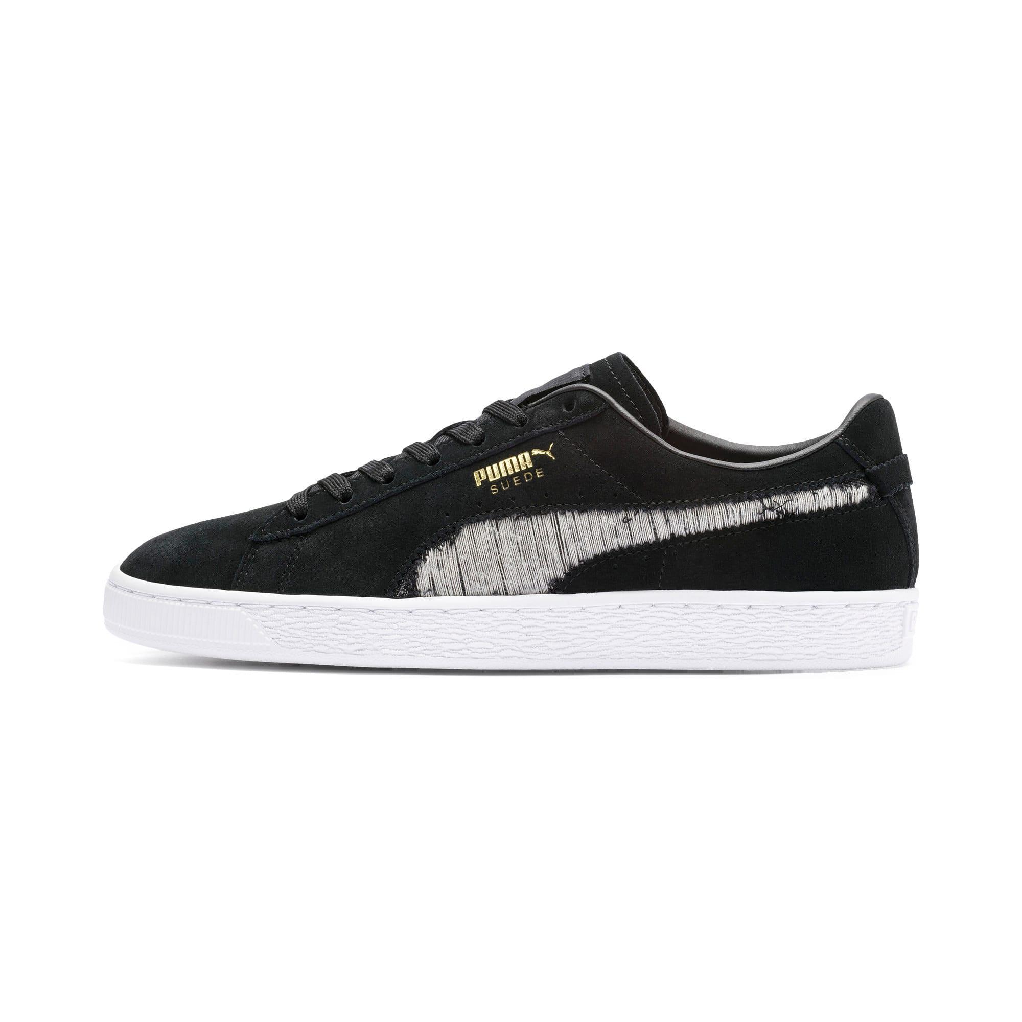 Thumbnail 1 of Suede Ripped Denim Sneakers, Puma Black-P Black-P White, medium