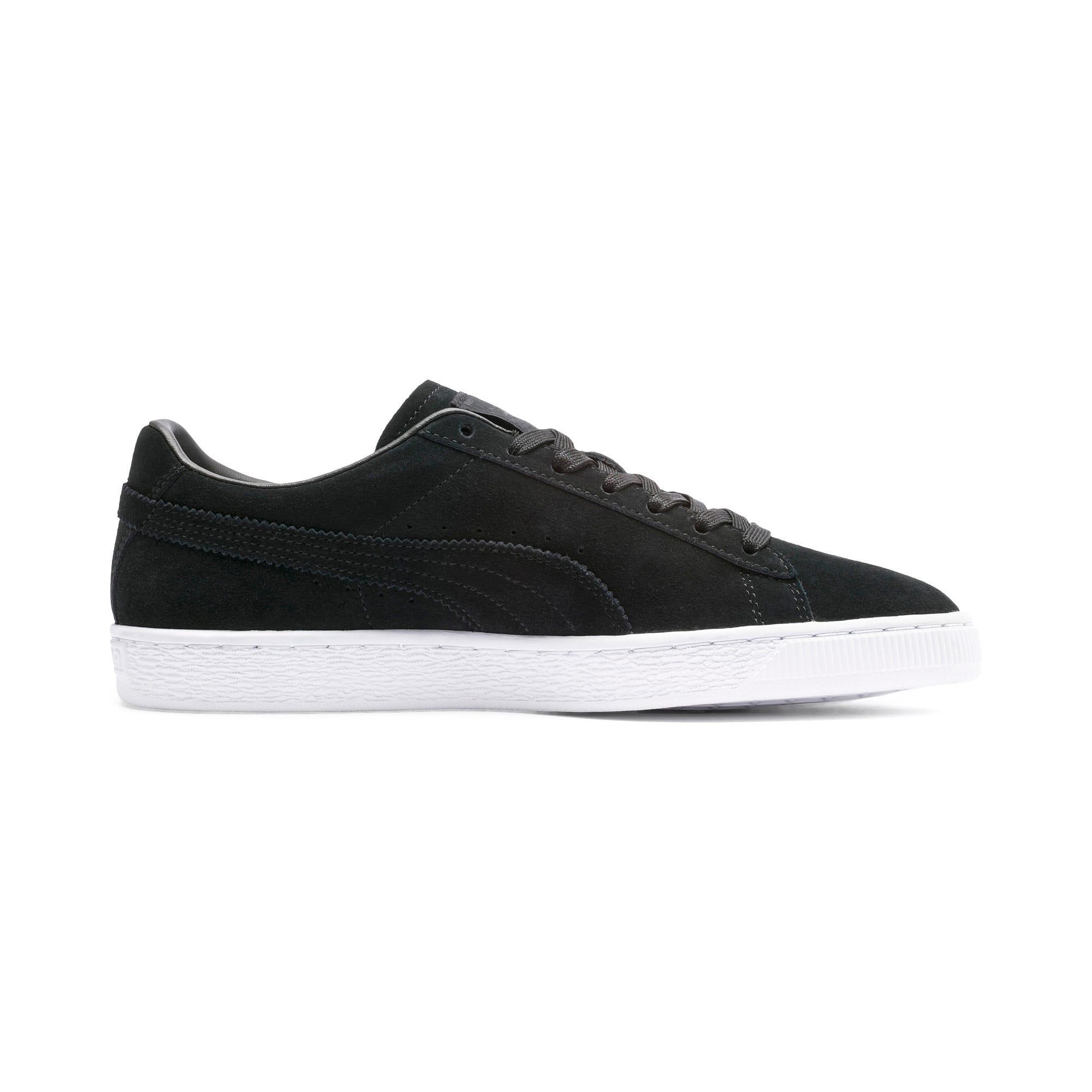 Thumbnail 6 of Suede Ripped Denim Sneakers, Puma Black-P Black-P White, medium