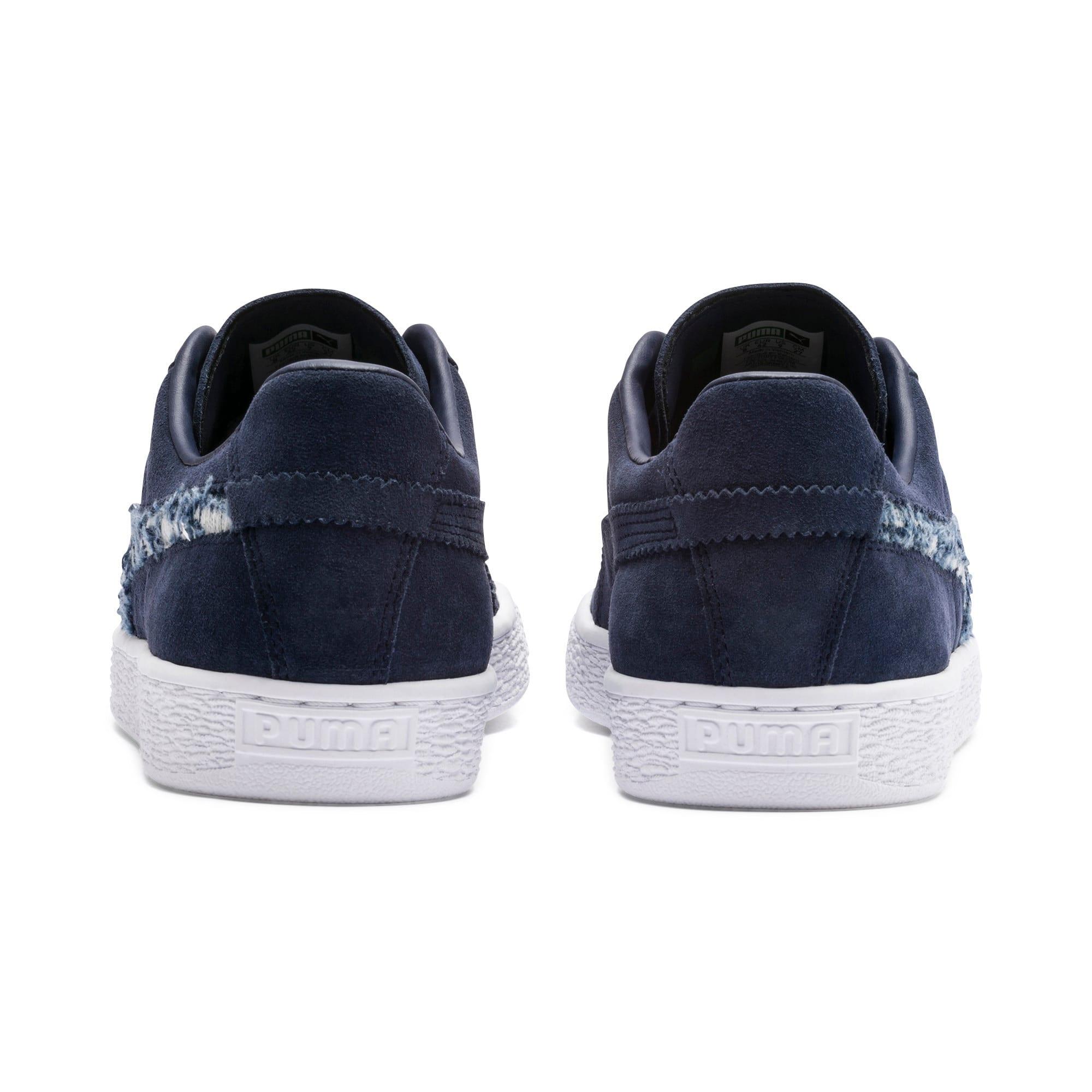 Thumbnail 5 of Suede Ripped Denim Sneakers, Peacoat-Peacoat-Puma White, medium