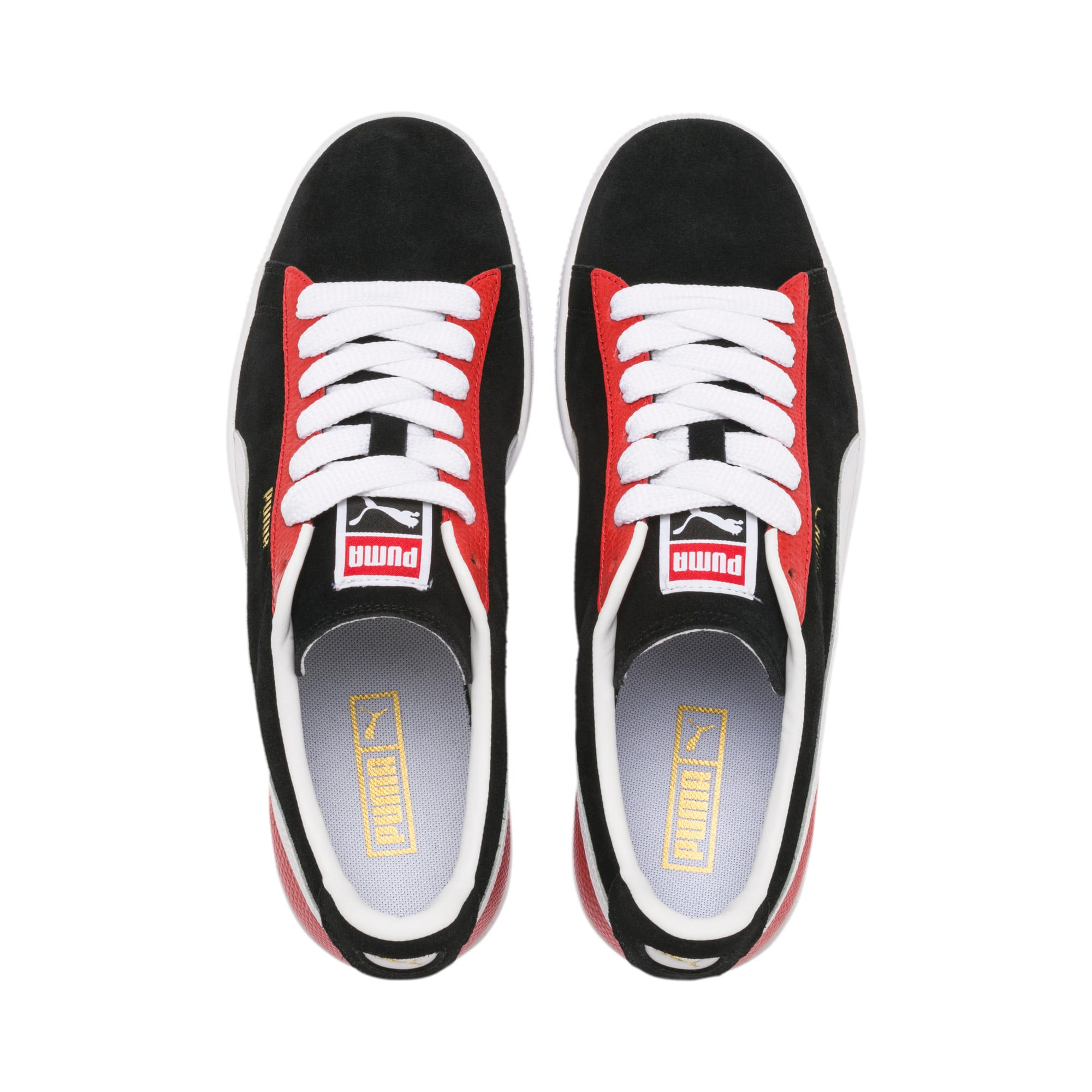 Thumbnail 7 of Suede Classic Block Sneakers, Black-High Risk Red-White, medium