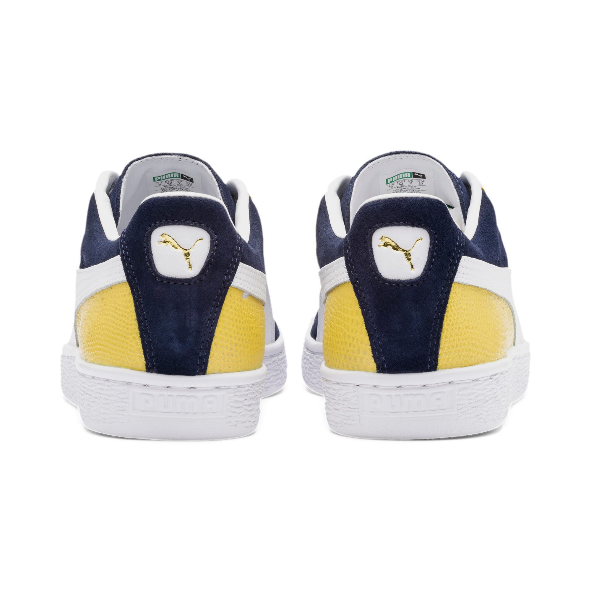 Thumbnail 5 of Suede Classic Block Sneakers, Peacoat-Sulphur-Puma White, medium