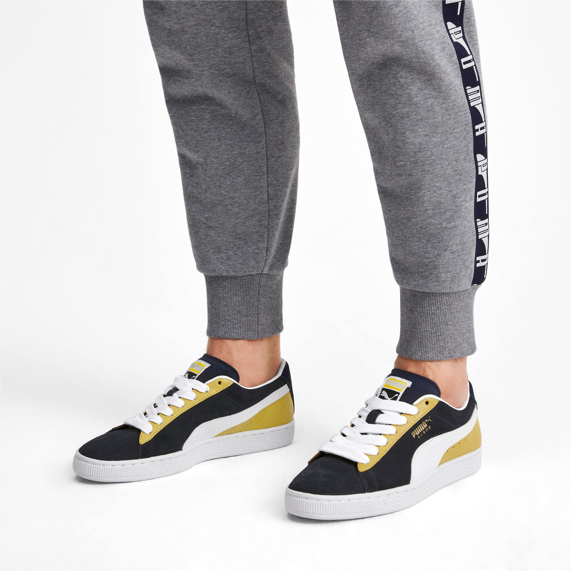 Thumbnail 3 of Suede Classic Block Sneakers, Peacoat-Sulphur-Puma White, medium