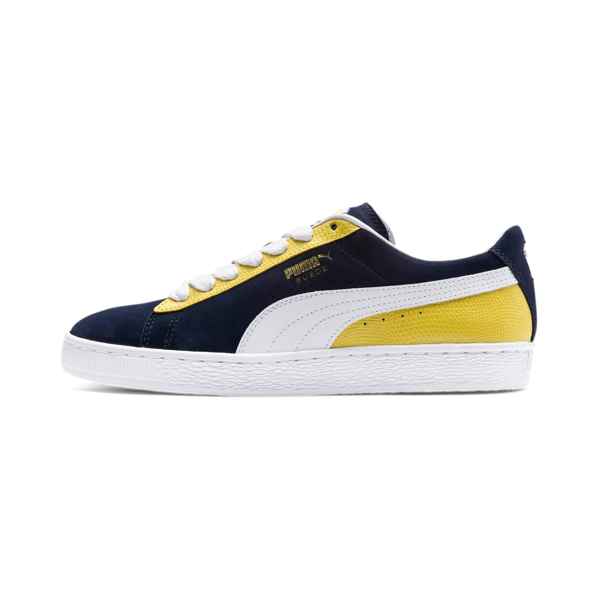 Thumbnail 1 of Suede Classic Block Sneakers, Peacoat-Sulphur-Puma White, medium