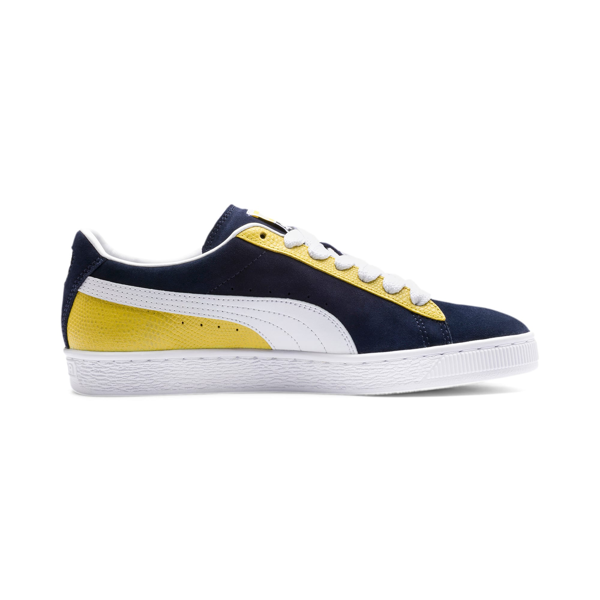 Thumbnail 6 of Suede Classic Block Sneakers, Peacoat-Sulphur-Puma White, medium