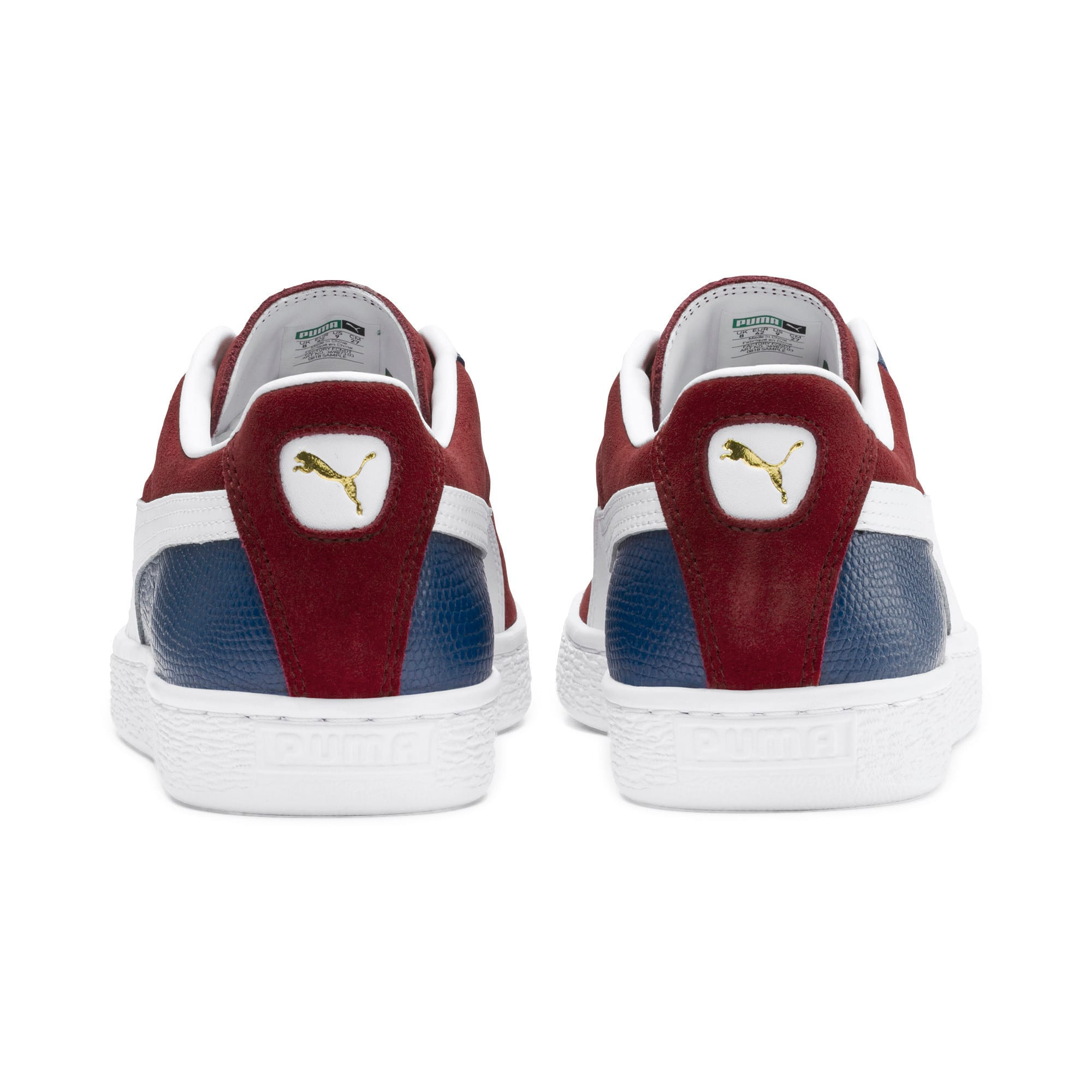 Thumbnail 4 of Suede Classic Block Sneakers, Rhubarb- Blue-White, medium
