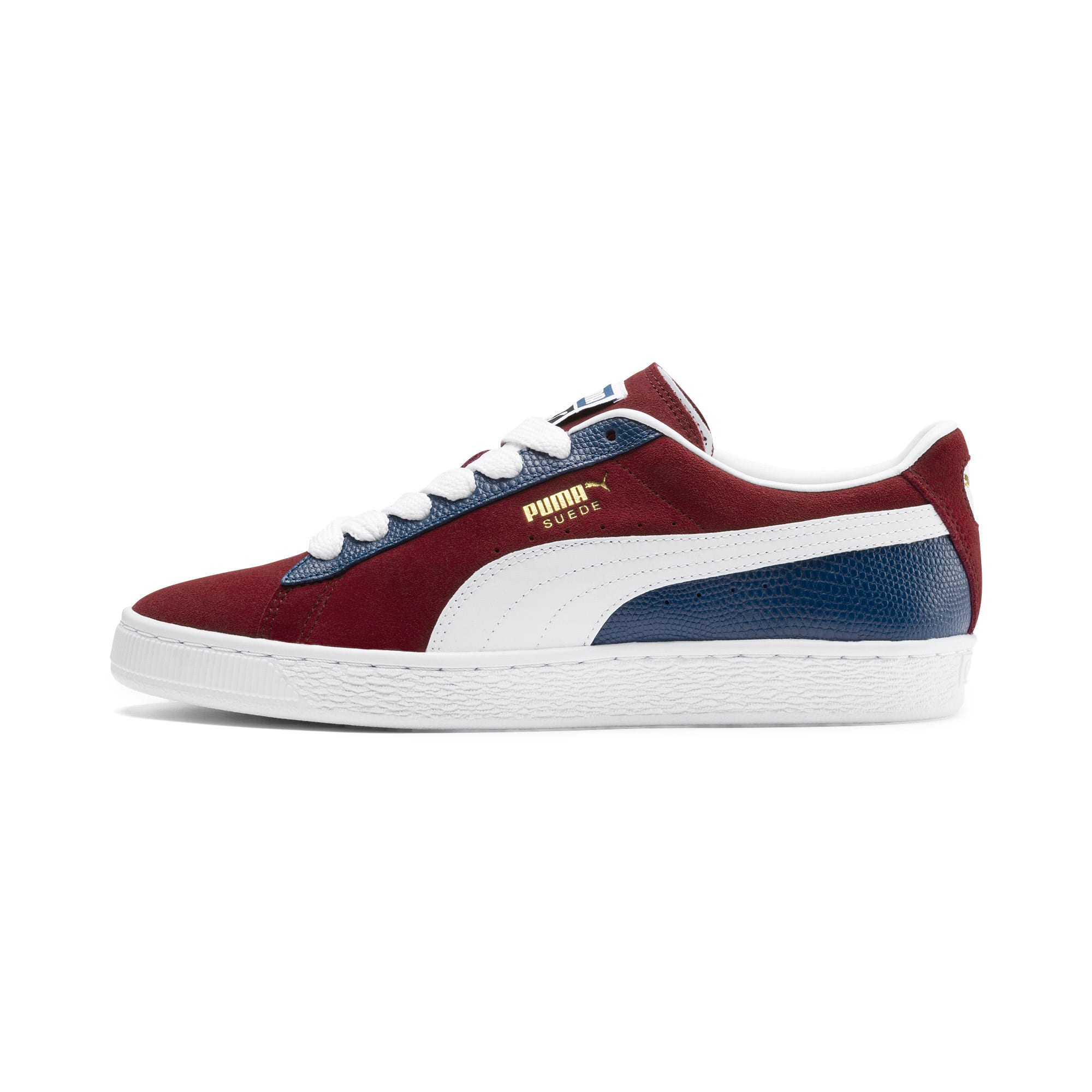 Thumbnail 1 of Suede Classic Block Sneakers, Rhubarb- Blue-White, medium