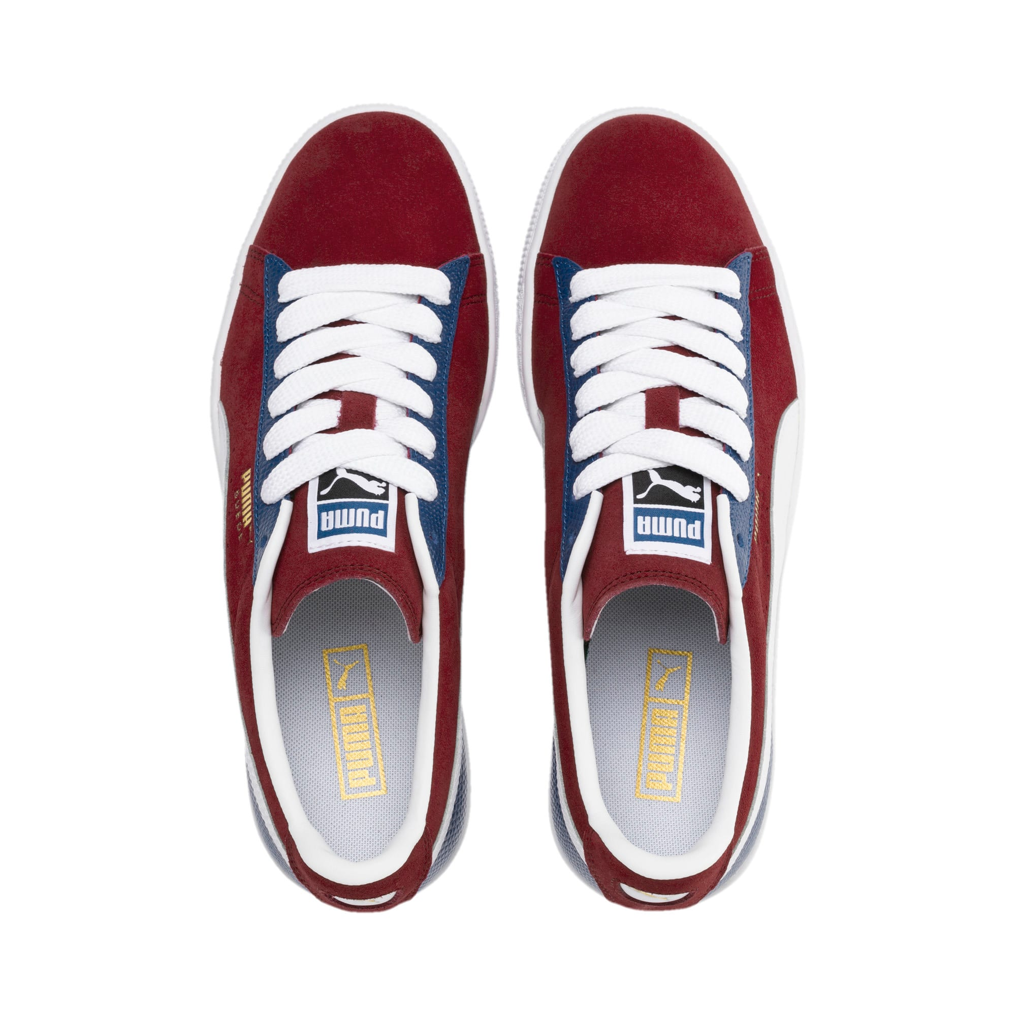 Thumbnail 7 of Suede Classic Block Sneakers, Rhubarb- Blue-White, medium