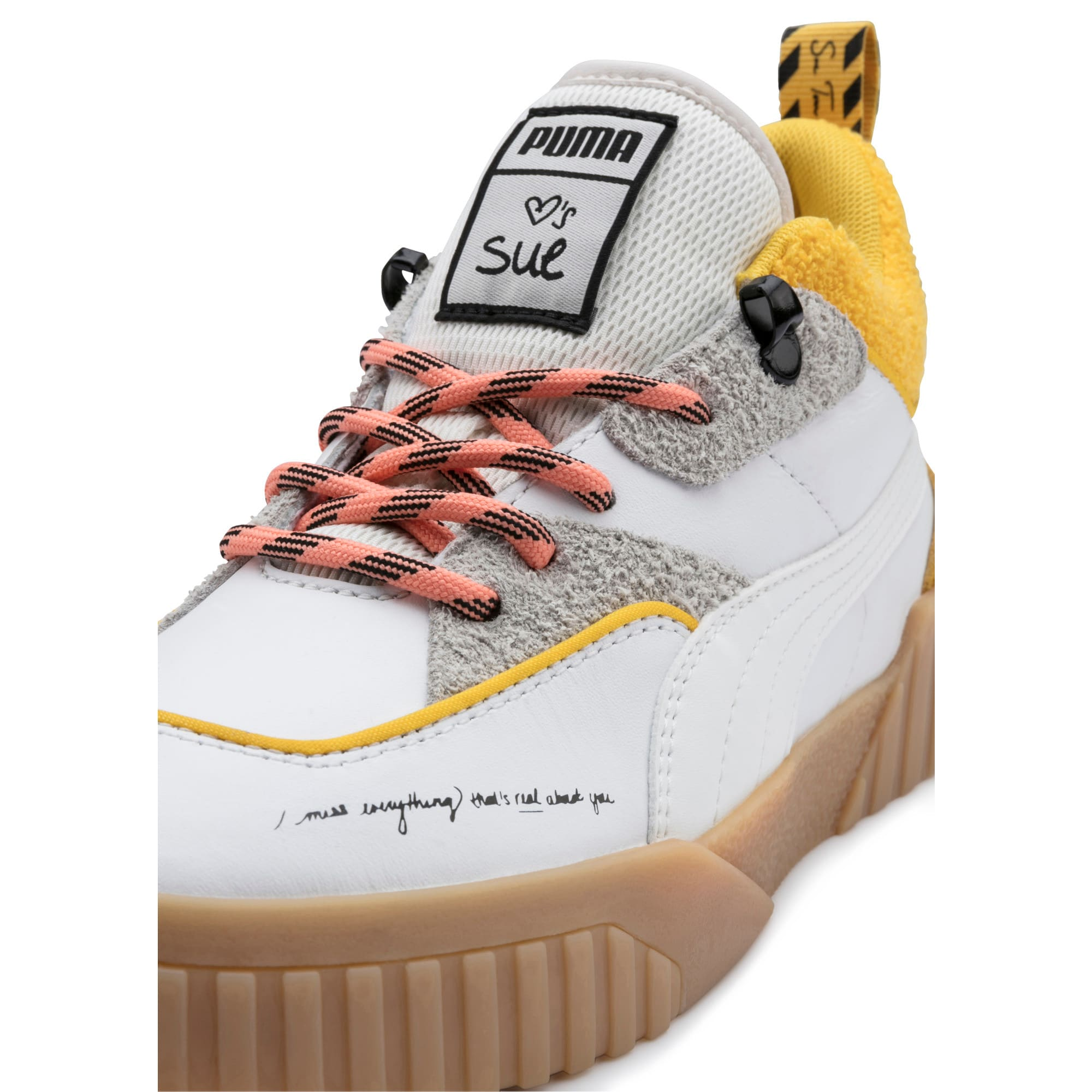 Thumbnail 7 of PUMA x SUE TSAI Cali Women's Trainers, Bright White-Bright White, medium-IND