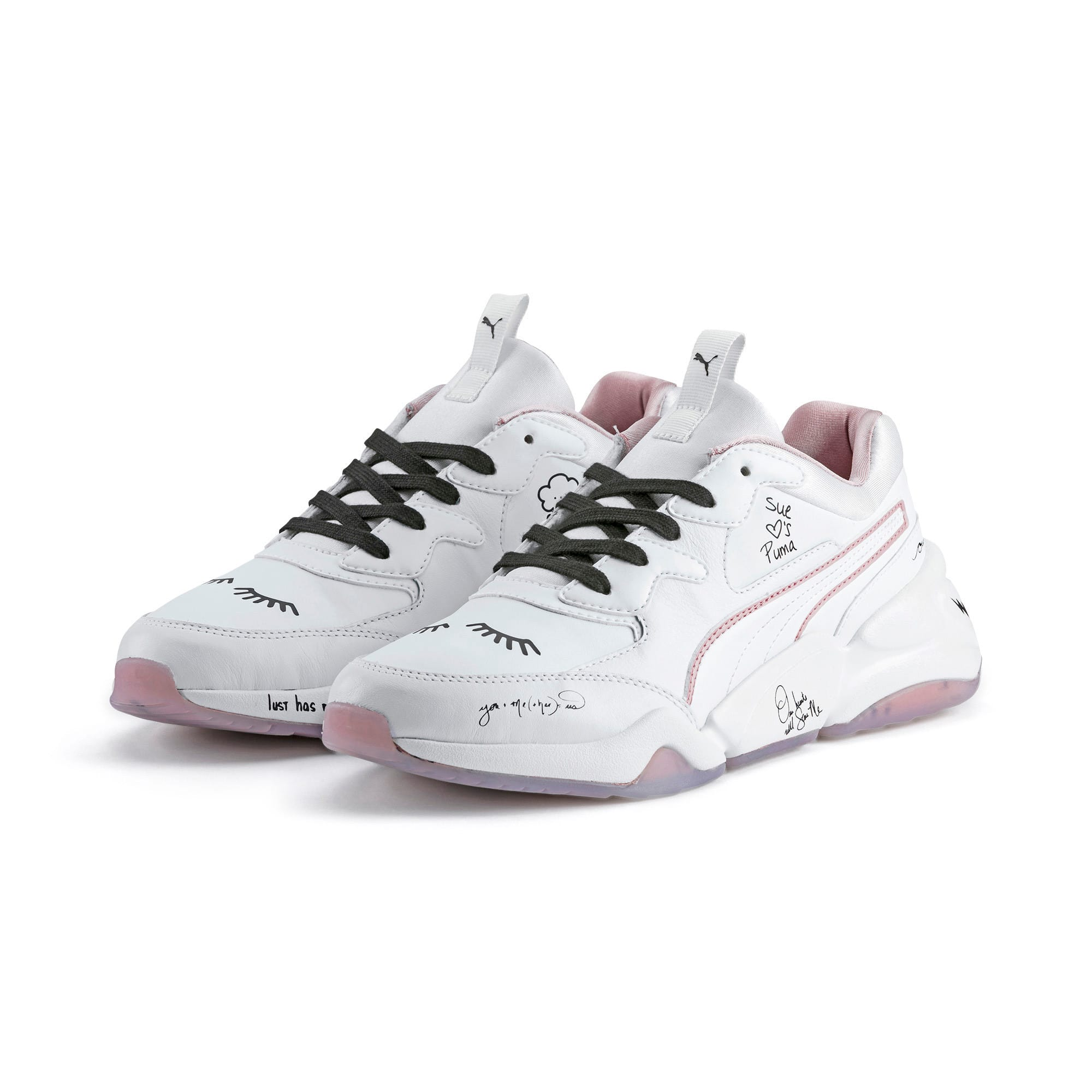 Thumbnail 7 of PUMA x SUE TSAI Nova Women's Trainers, Bright White-Bright White, medium