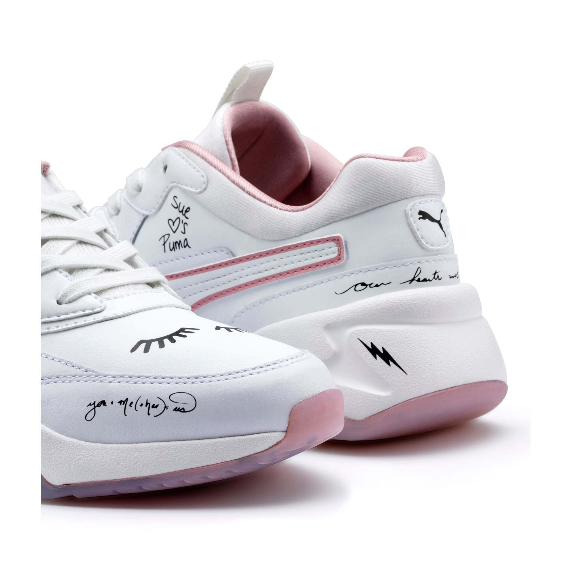 Thumbnail 9 of PUMA x SUE TSAI Nova Women's Trainers, Bright White-Bright White, medium