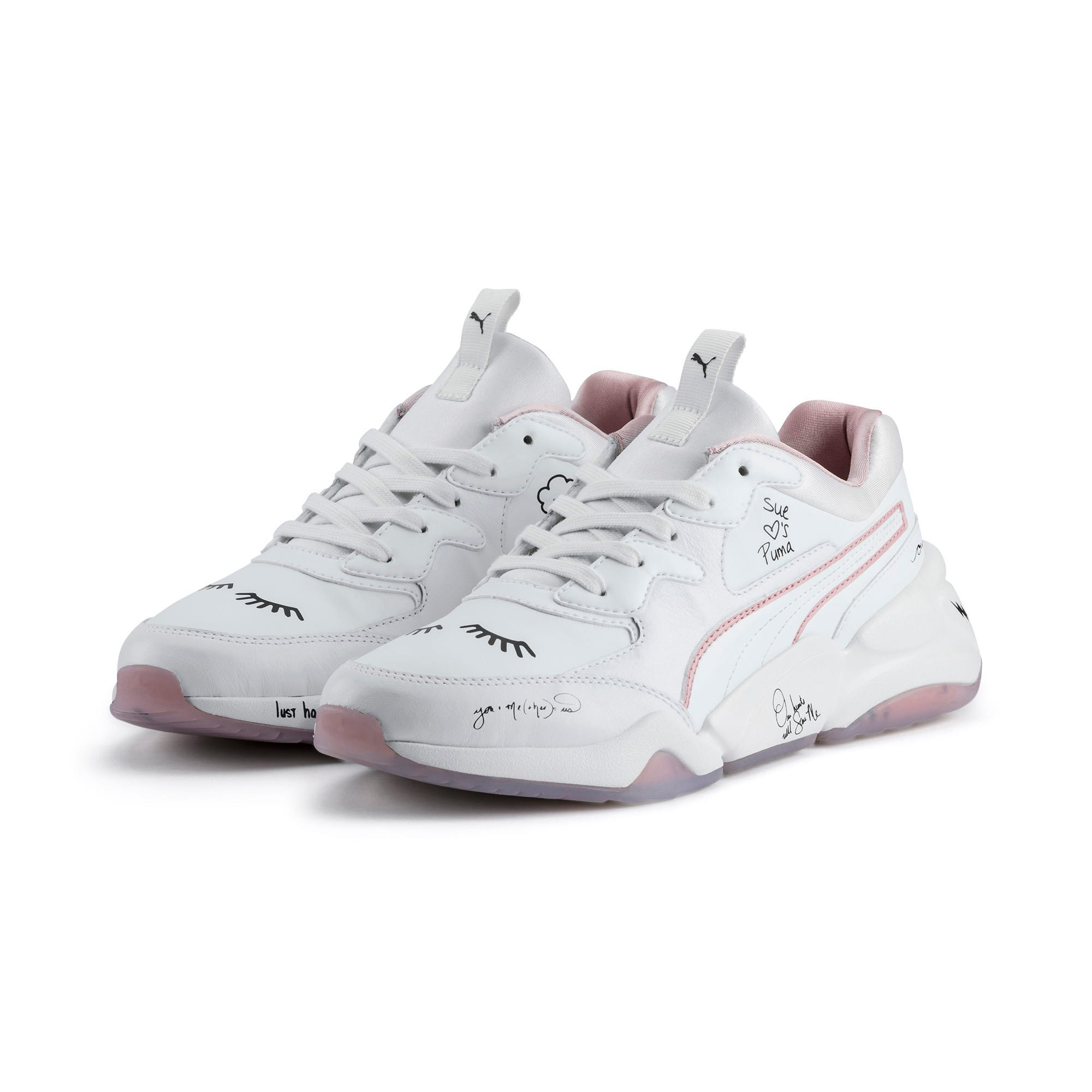 Thumbnail 2 of PUMA x SUE TSAI Nova Women's Trainers, Bright White-Bright White, medium