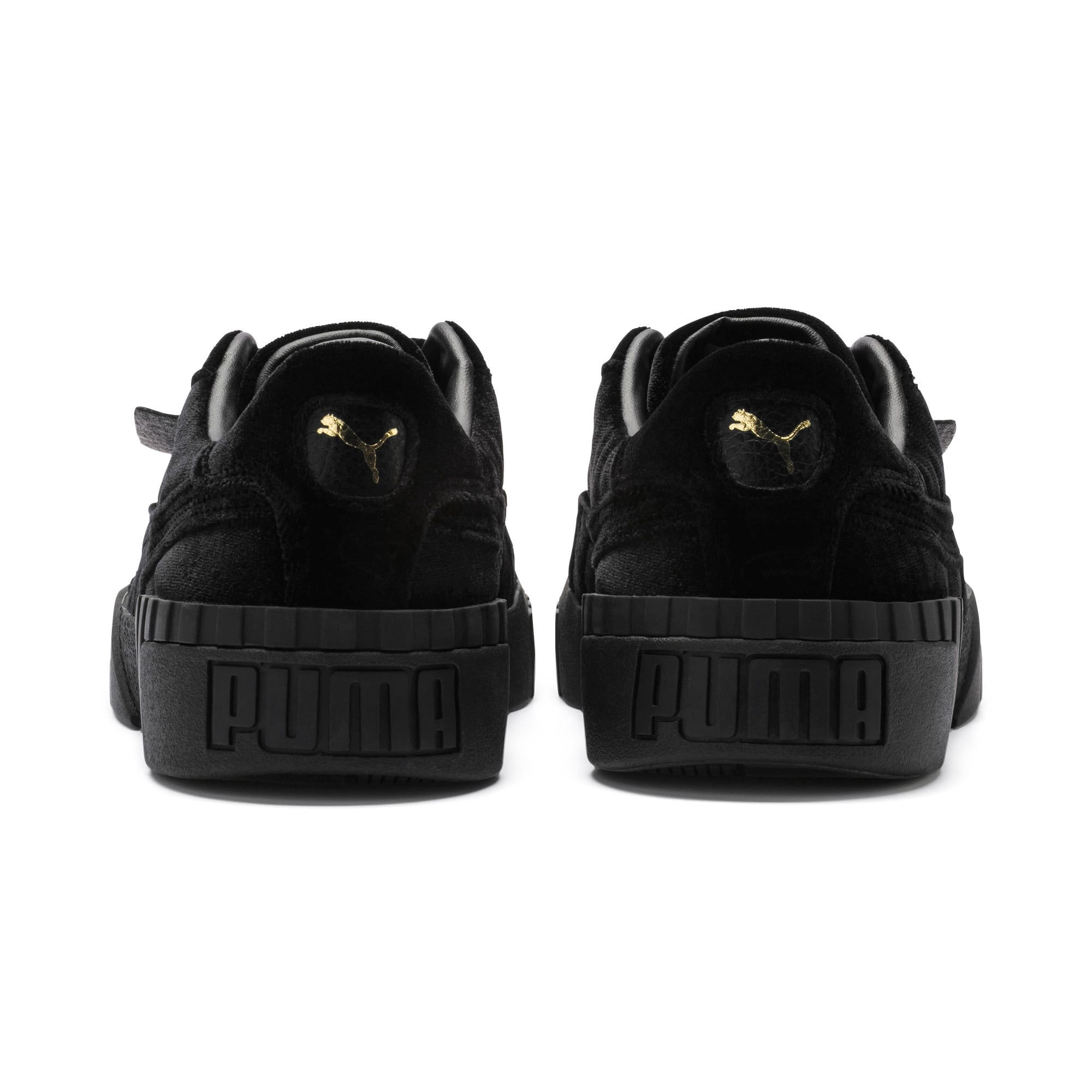 Thumbnail 4 of Cali Velvet Women's Sneakers, Puma Black-Puma Black, medium