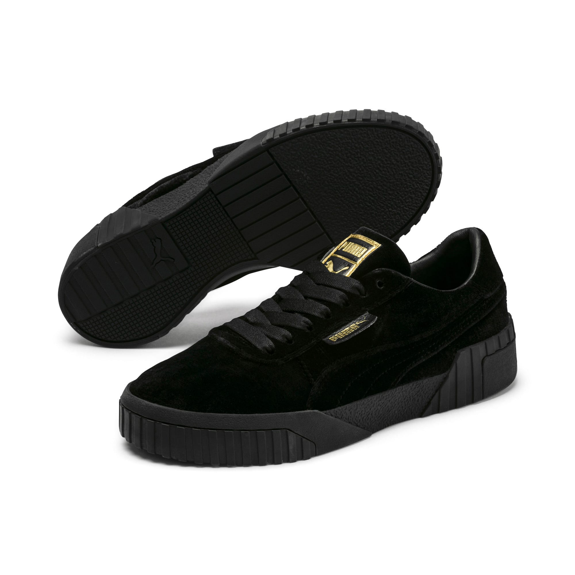 Thumbnail 2 of Cali Velvet Women's Sneakers, Puma Black-Puma Black, medium