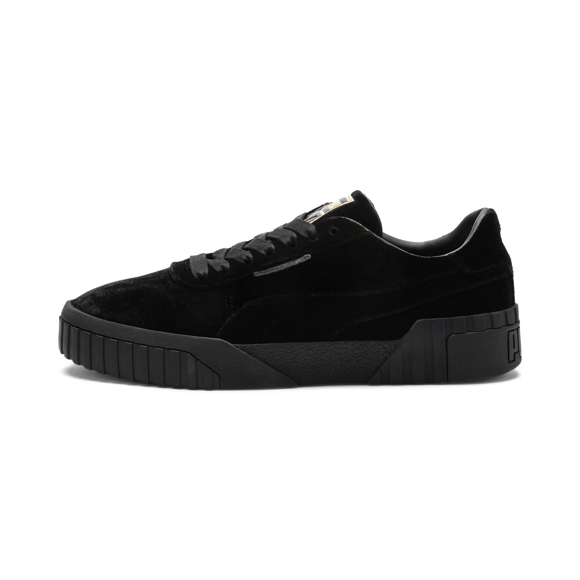 Thumbnail 1 of Cali Velvet Women's Sneakers, Puma Black-Puma Black, medium