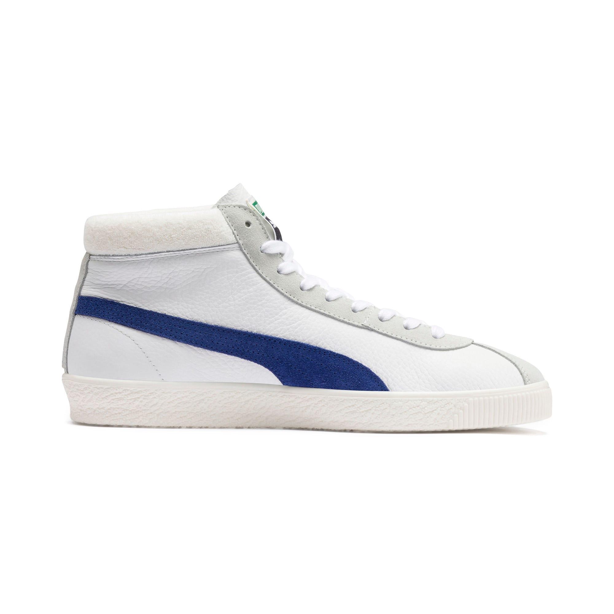 Thumbnail 6 of Halfhoge Basket '68 sportschoenen, Puma White-Galaxy Blue, medium