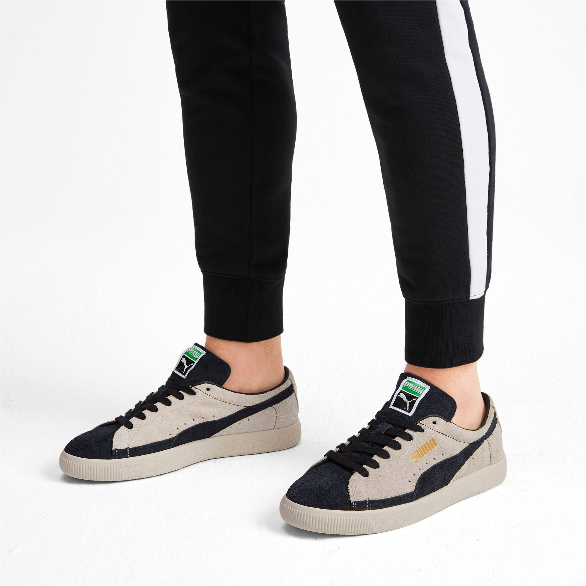 Thumbnail 3 of Suede 90681 Vintage Sneakers, Whisper White-Puma Black, medium