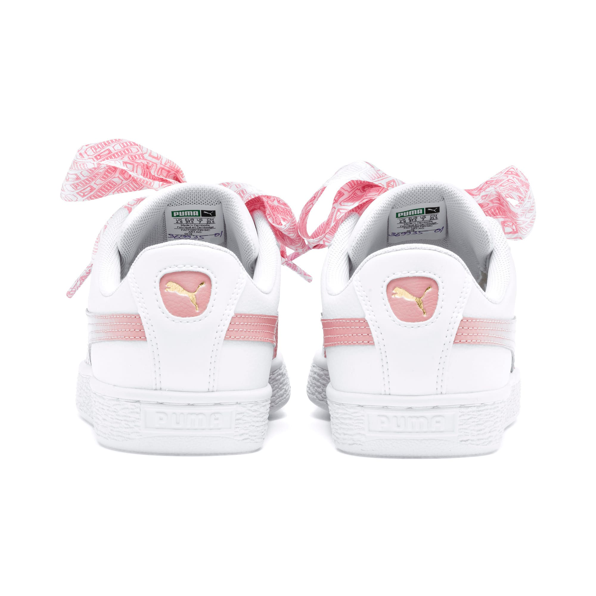 Thumbnail 5 of Basket Heart Reinvent Women's Trainers, Puma White-Bridal Rose, medium-IND