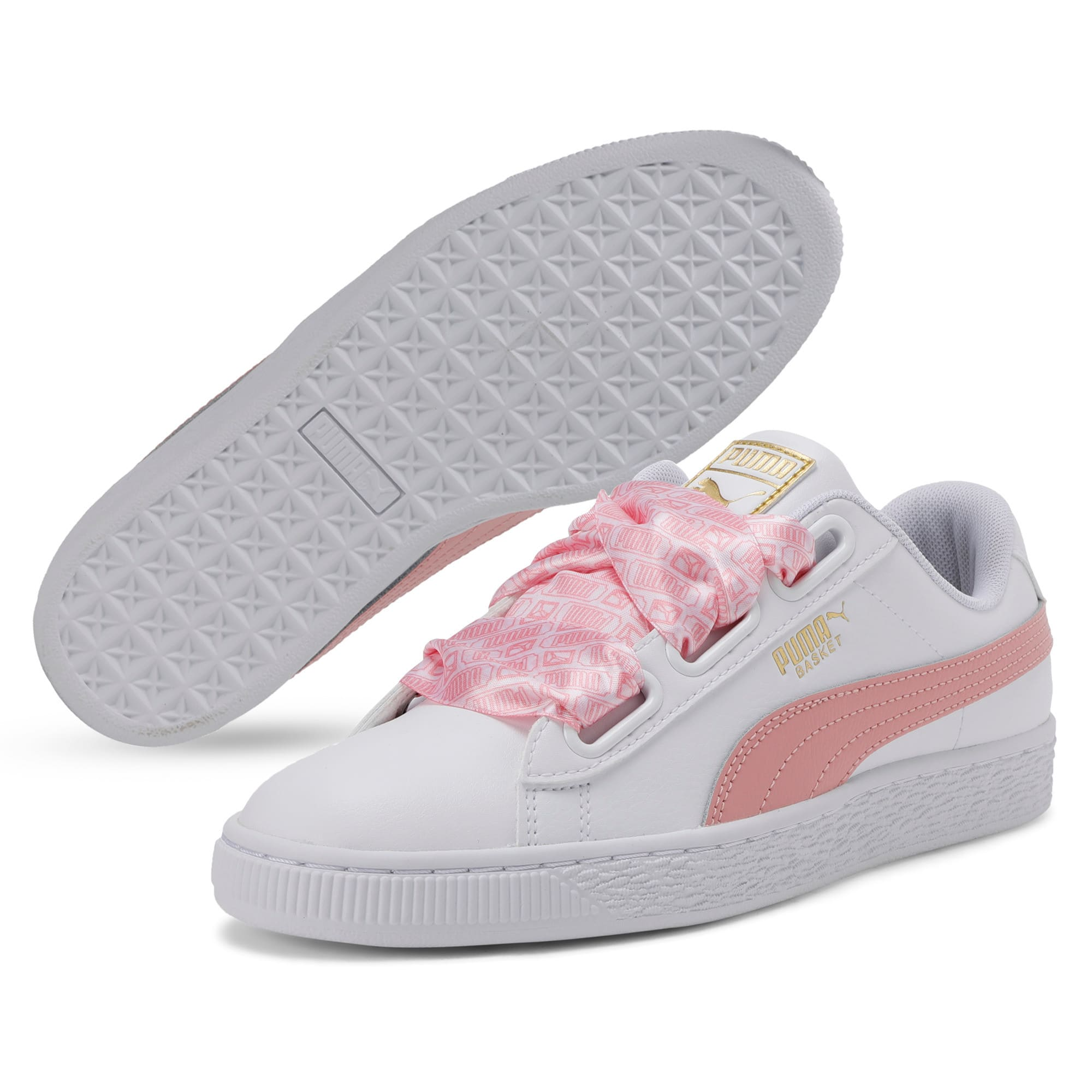 Thumbnail 4 of Basket Heart Reinvent Women's Trainers, Puma White-Bridal Rose, medium-IND