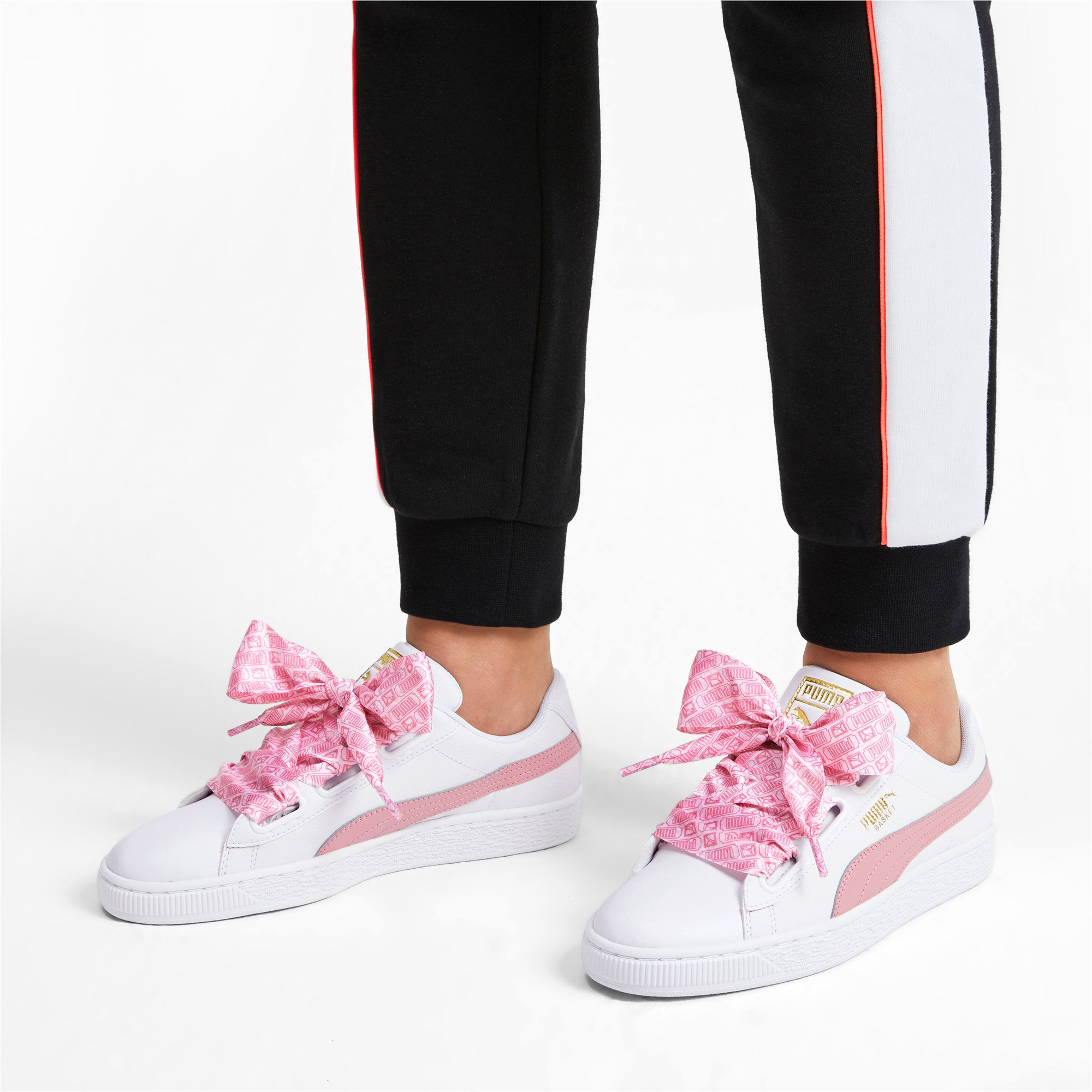 Thumbnail 3 of Basket Heart Reinvent Women's Trainers, Puma White-Bridal Rose, medium-IND