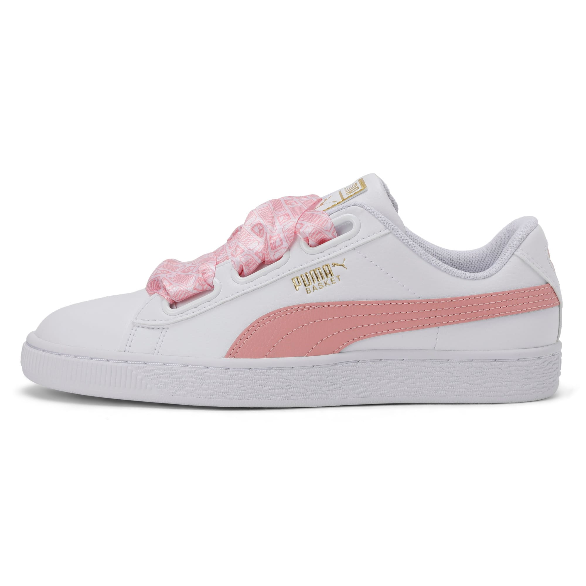 Thumbnail 1 of Basket Heart Reinvent Women's Trainers, Puma White-Bridal Rose, medium-IND