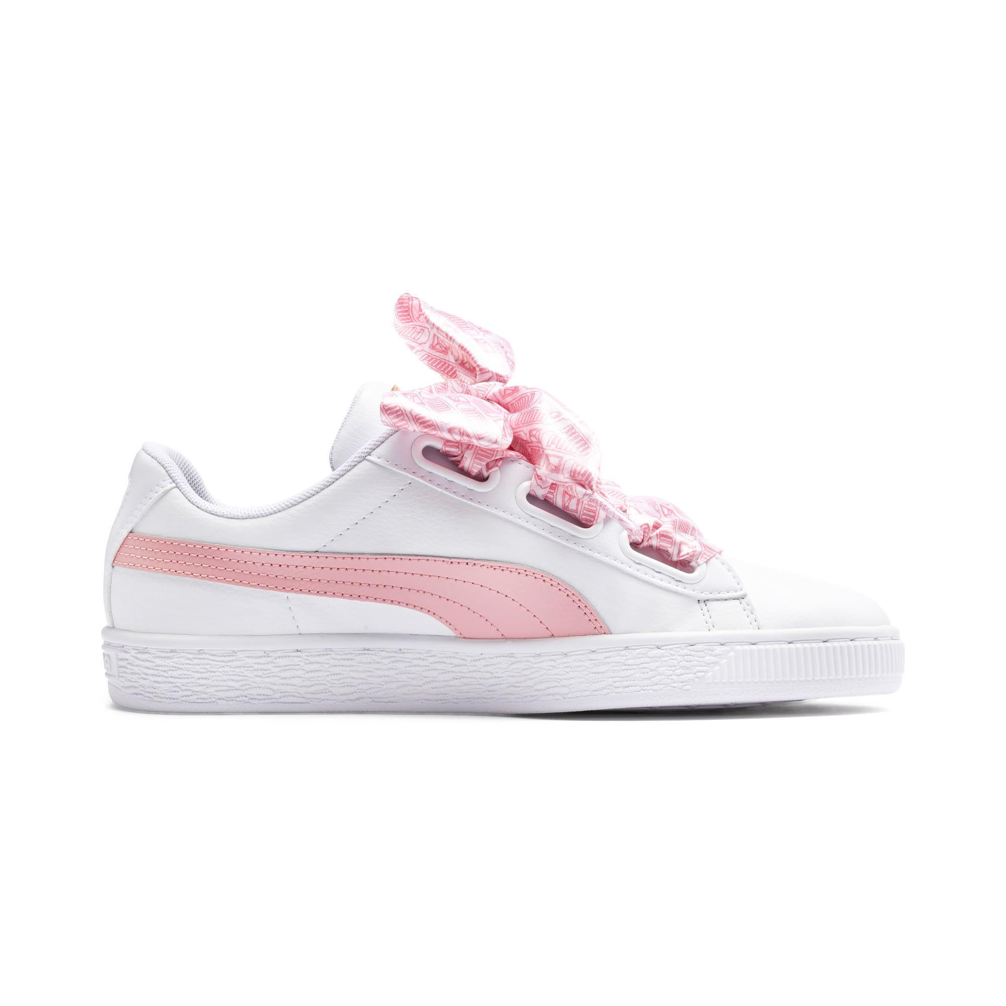 Thumbnail 7 of Basket Heart Reinvent Women's Trainers, Puma White-Bridal Rose, medium-IND