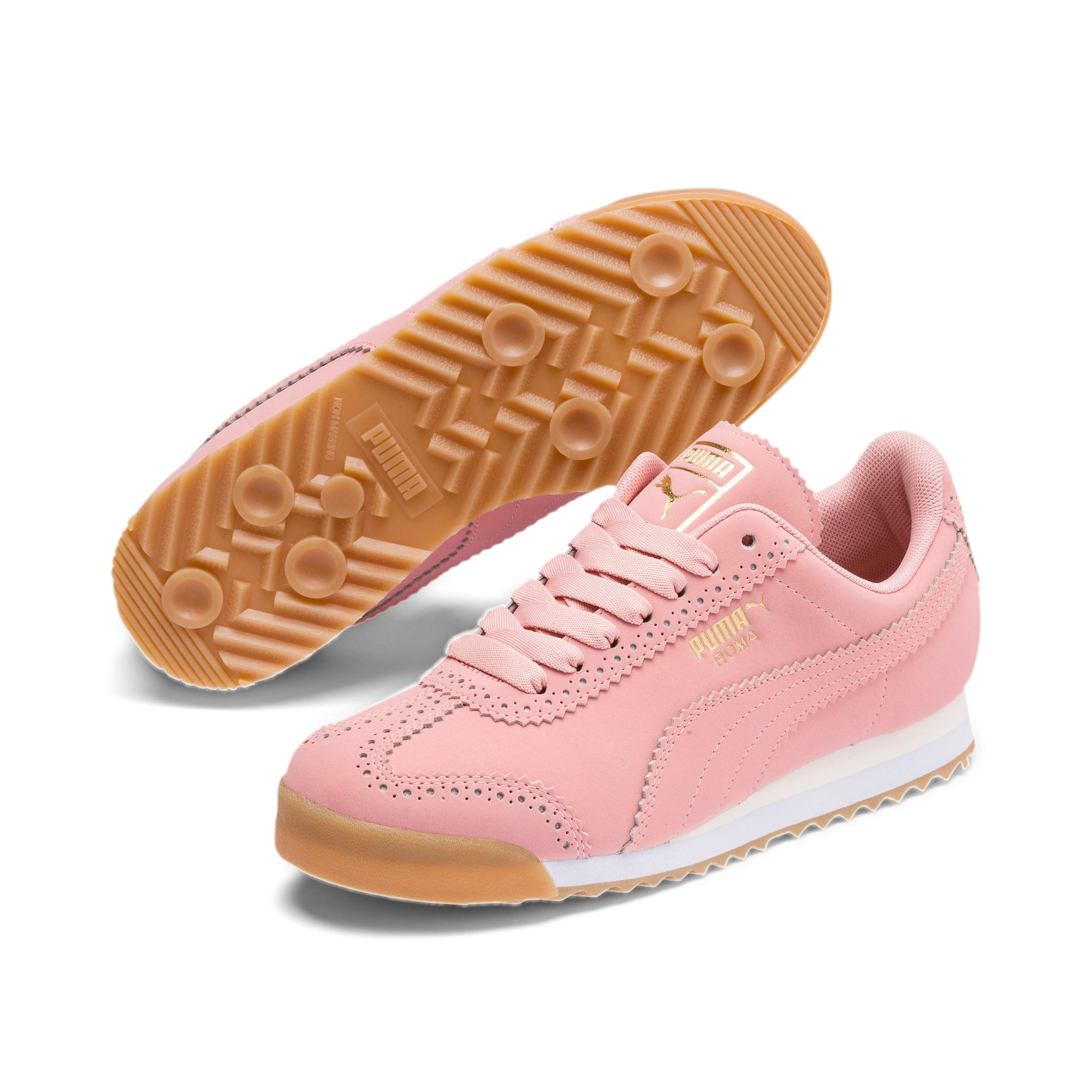 Roma Brogue Women's Sneakers, Bridal Rose-Puma Team Gold, large