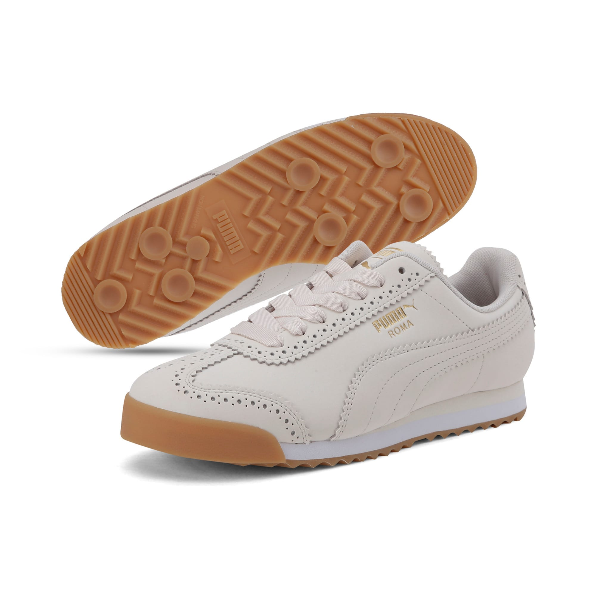 Thumbnail 2 of Roma Brogue Women's Trainers, Pastel Parchment-P.Team Gold, medium-IND