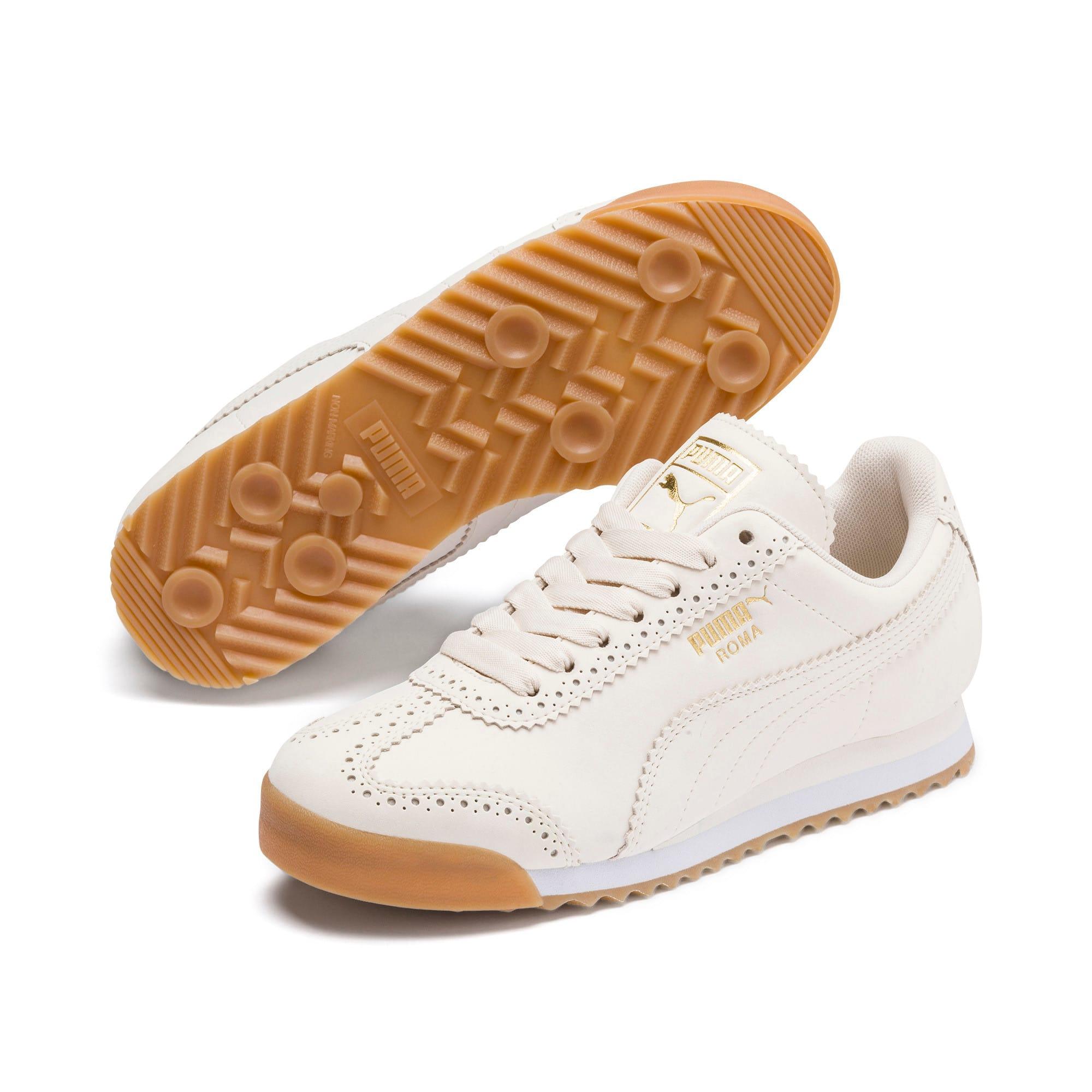 Thumbnail 2 of Roma Brogue Women's Sneakers, Pastel Parchment-P.Team Gold, medium