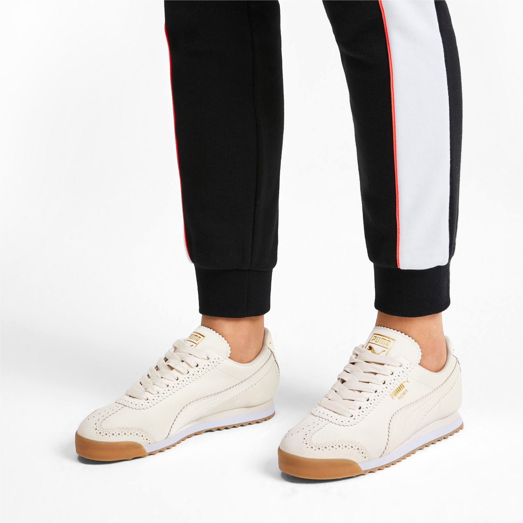 Thumbnail 3 of Roma Brogue Women's Sneakers, Pastel Parchment-P.Team Gold, medium