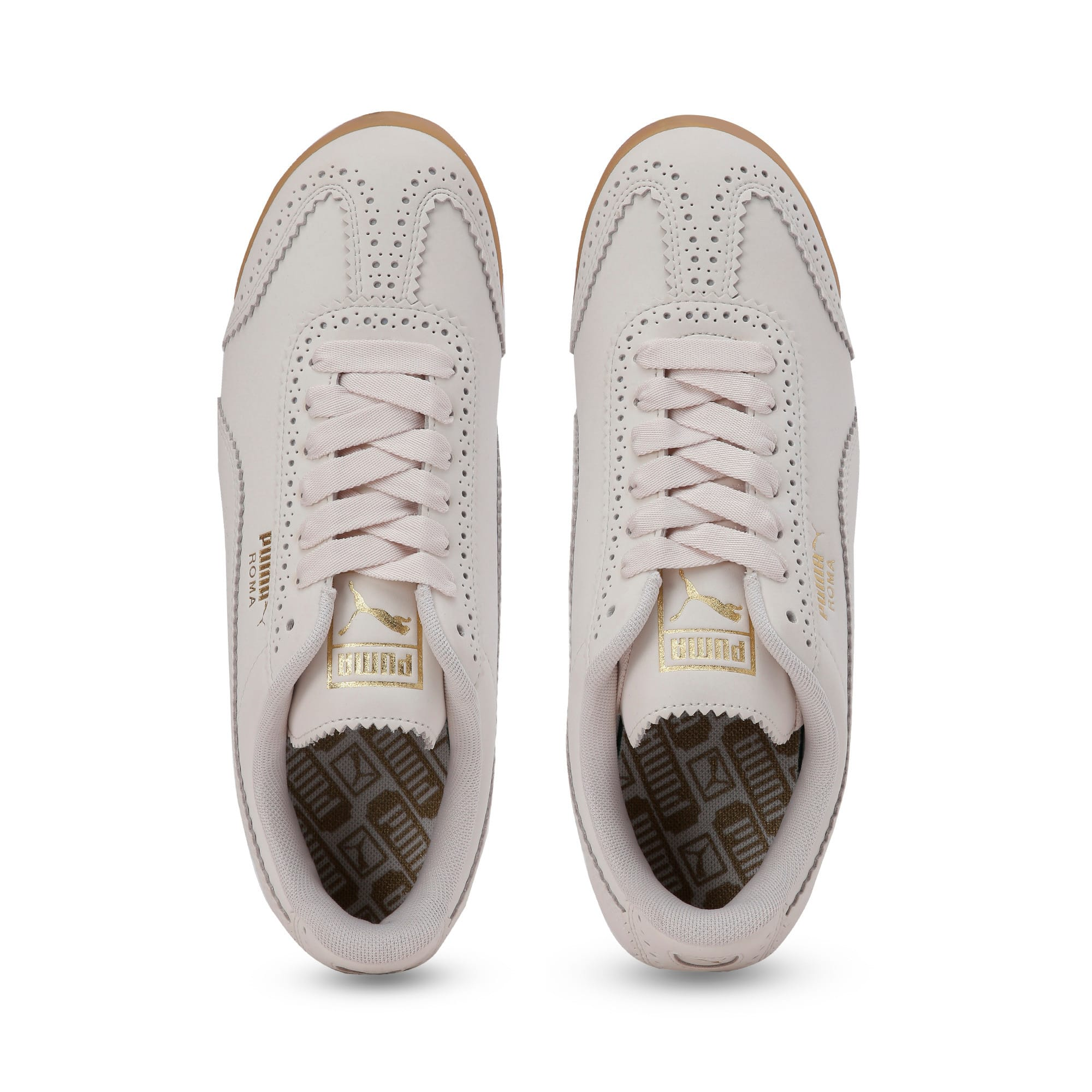 Thumbnail 7 of Roma Brogue Women's Trainers, Pastel Parchment-P.Team Gold, medium-IND