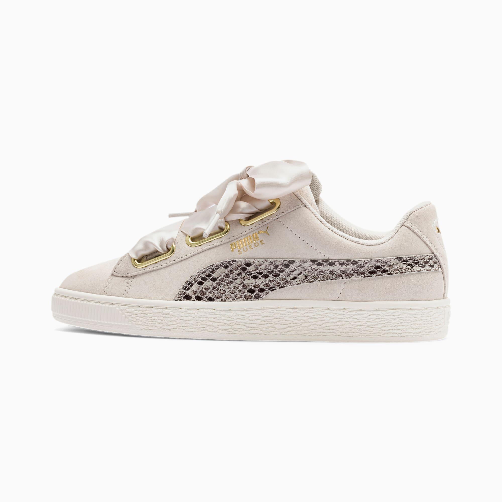 Suede Heart Snake Lux Women's Sneakers