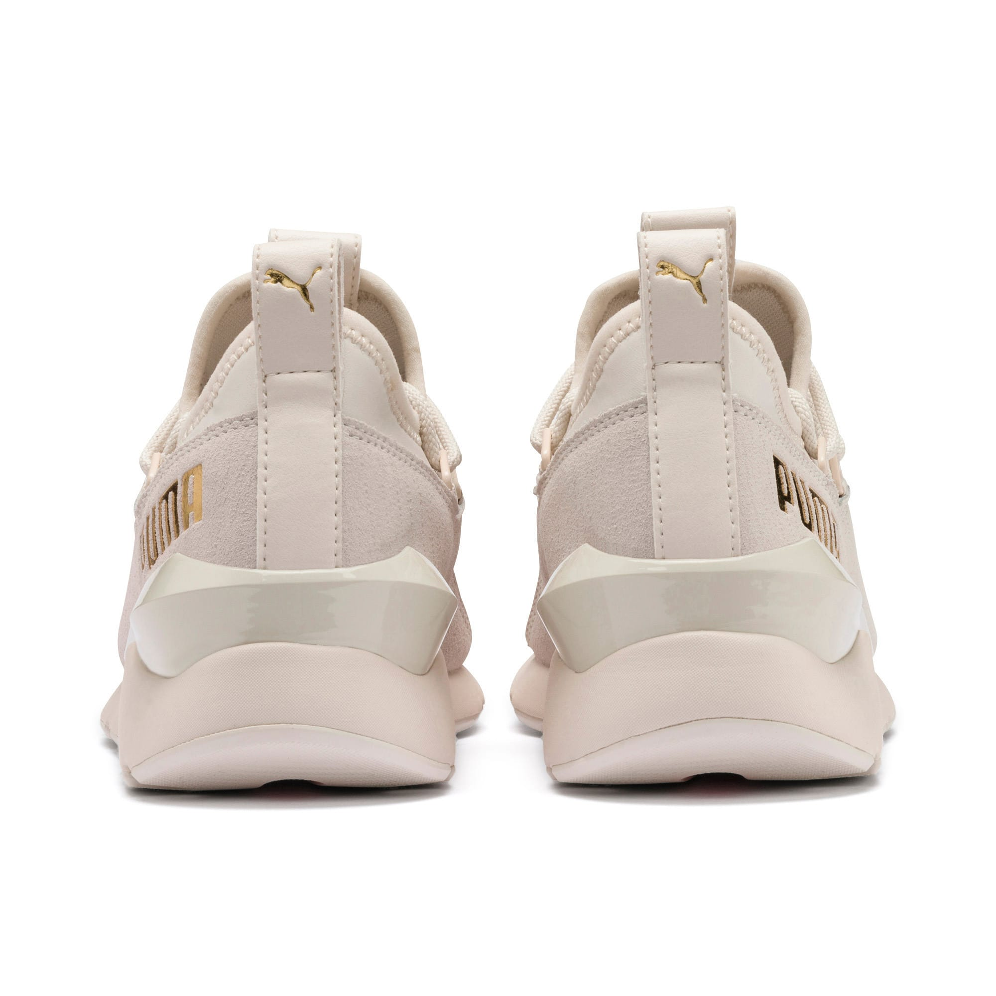 Thumbnail 5 of Muse 2 Metallic Women's Trainers, Pastel Parchment-PTeam Gold, medium-IND
