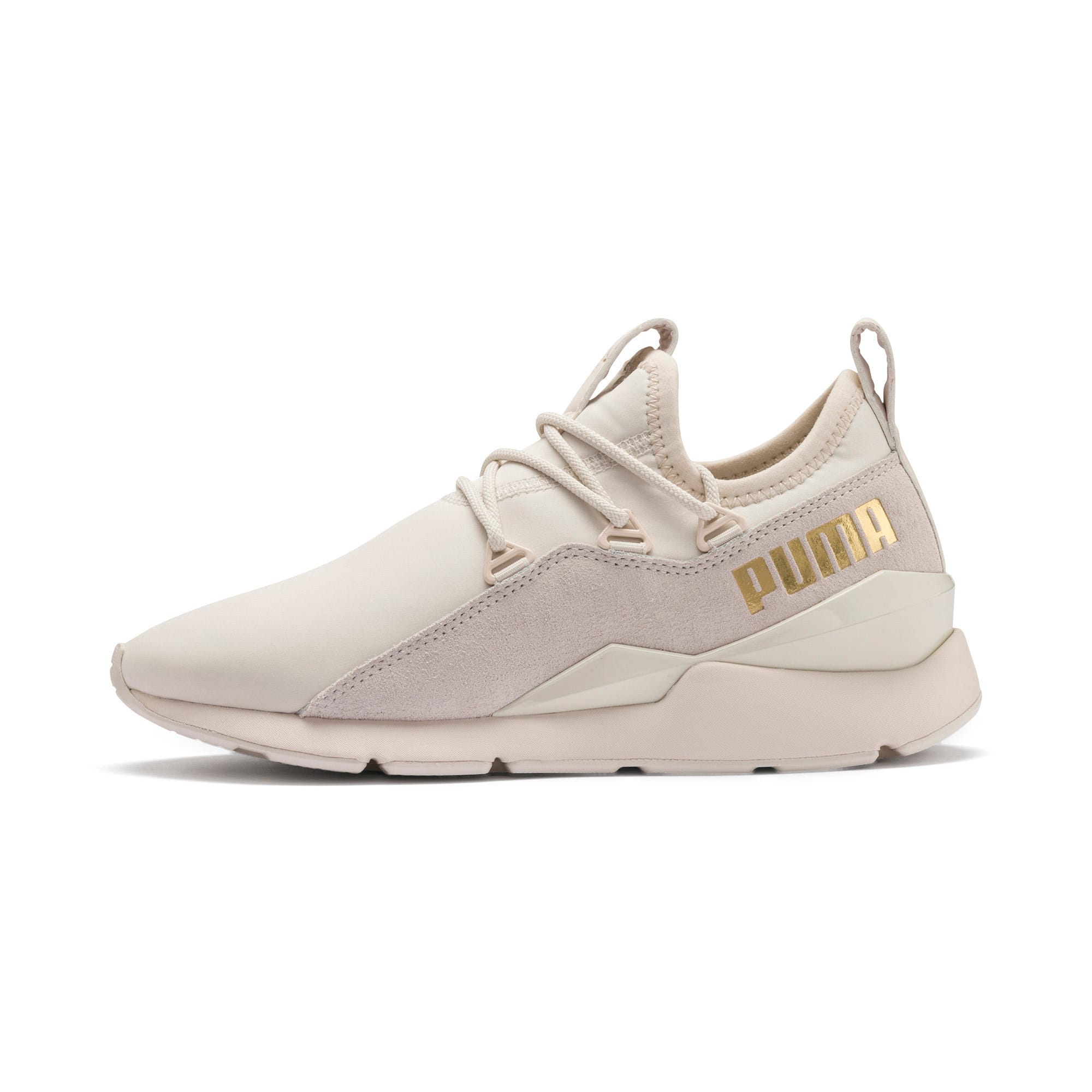 Thumbnail 1 of Muse 2 Metallic Women's Trainers, Pastel Parchment-PTeam Gold, medium-IND