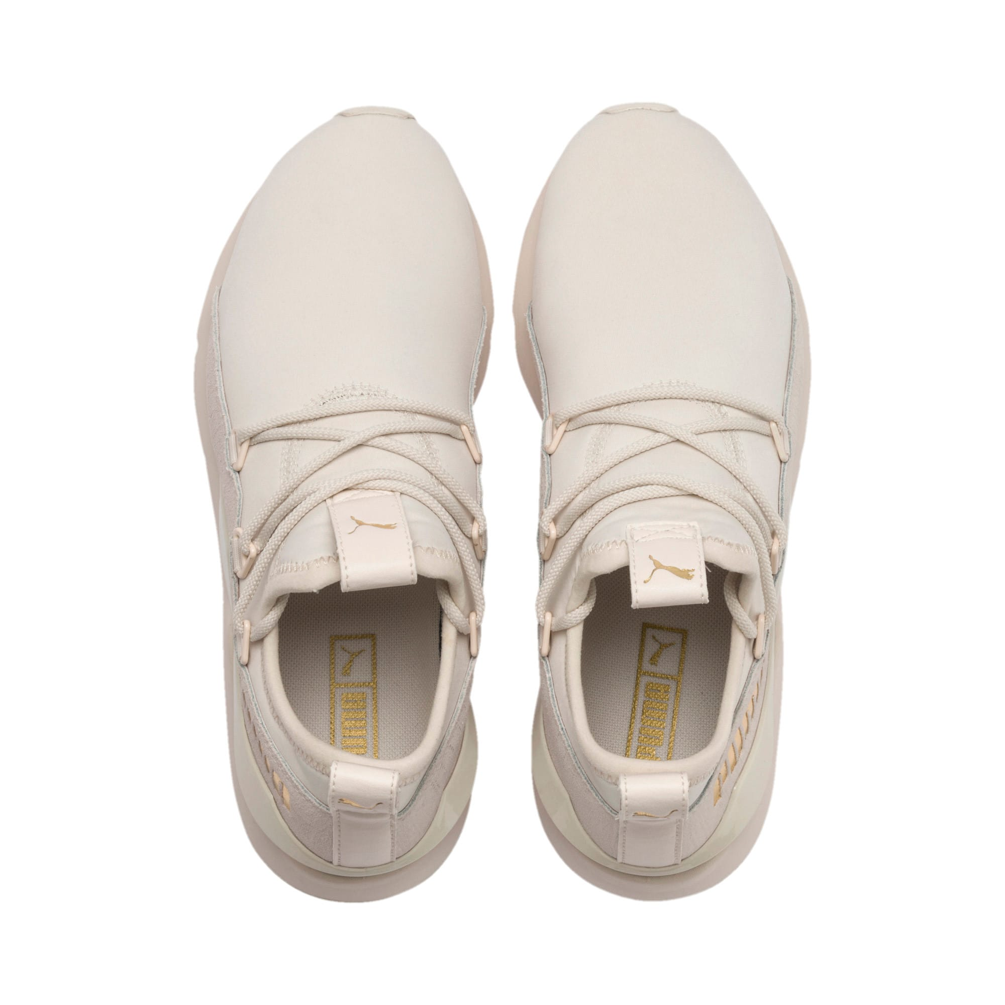 Thumbnail 8 of Muse 2 Metallic Women's Trainers, Pastel Parchment-PTeam Gold, medium-IND