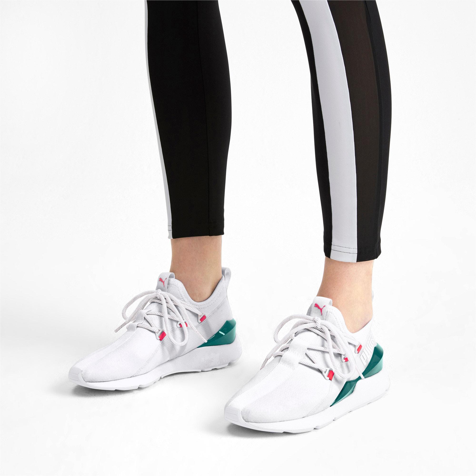 Thumbnail 2 of Muse 2 Hypertech Women's Sneakers, Puma White-Pink Alert, medium