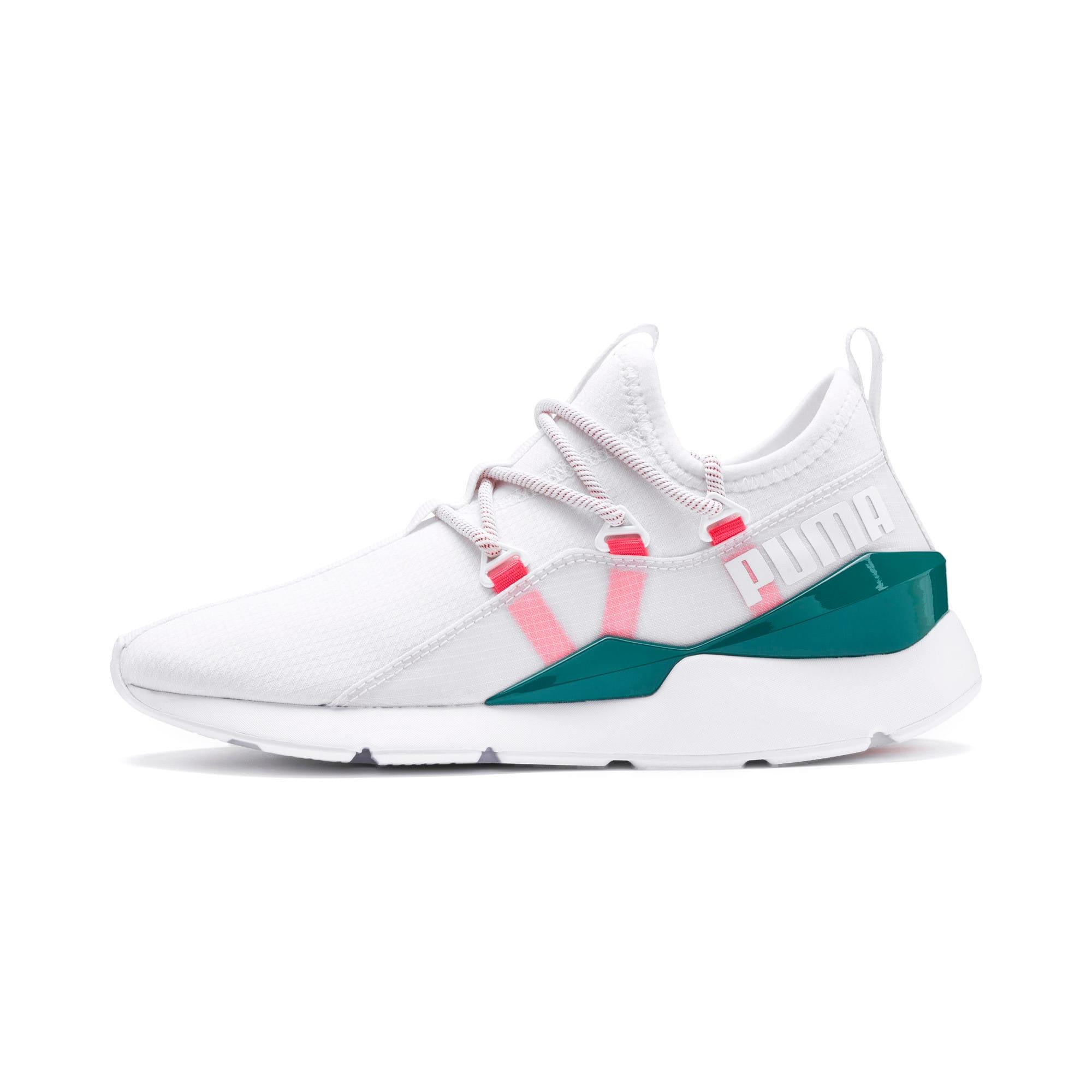 Thumbnail 1 of Muse 2 Hypertech Women's Sneakers, Puma White-Pink Alert, medium