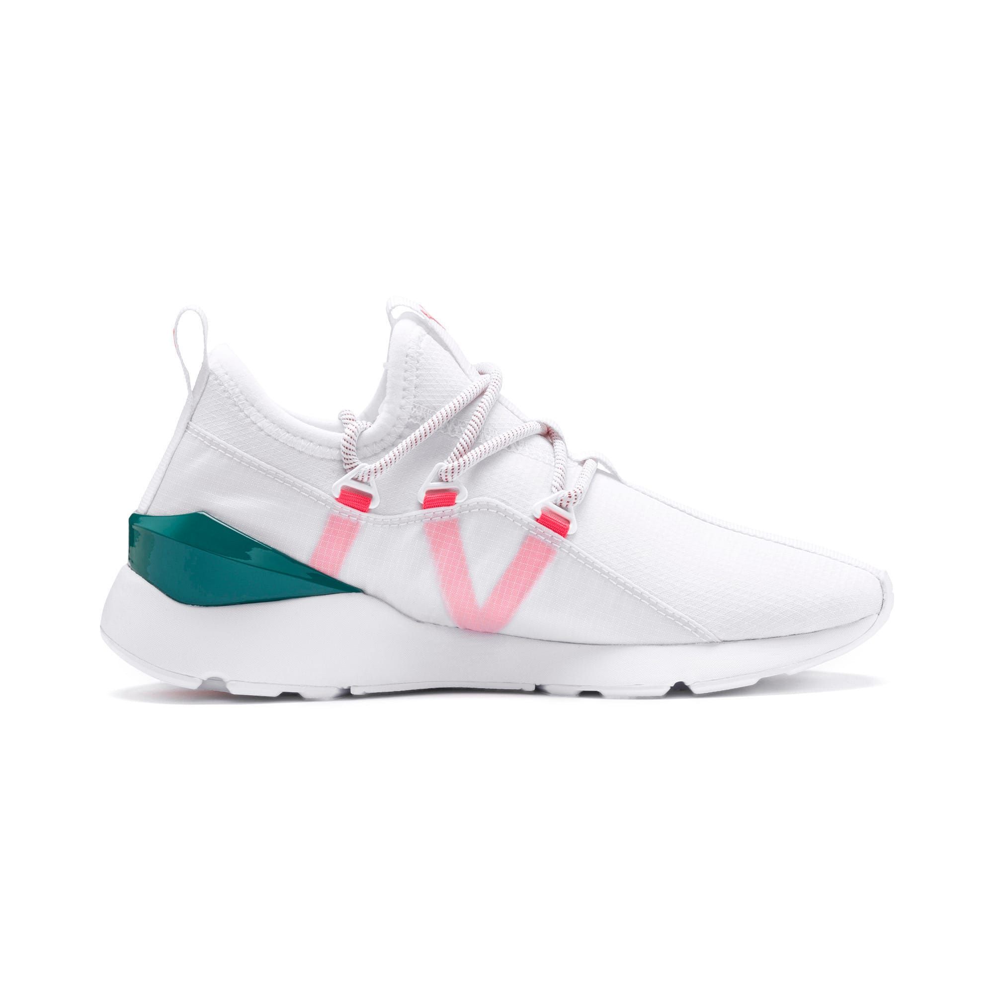 Thumbnail 6 of Muse 2 Hypertech Women's Sneakers, Puma White-Pink Alert, medium