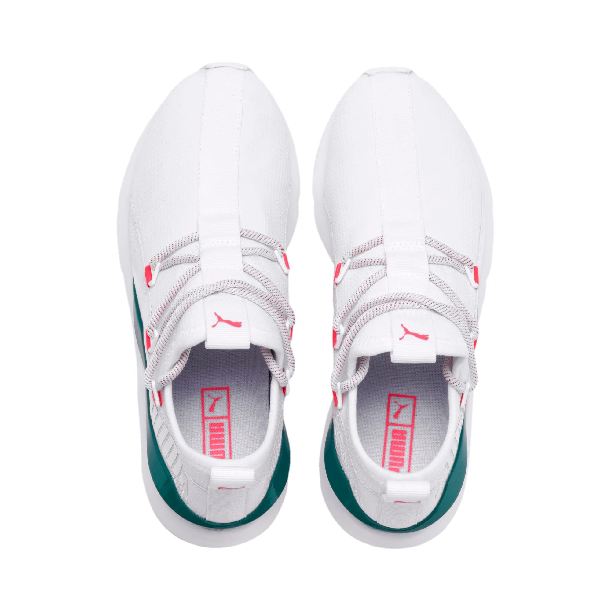Thumbnail 7 of Muse 2 Hypertech Women's Sneakers, Puma White-Pink Alert, medium