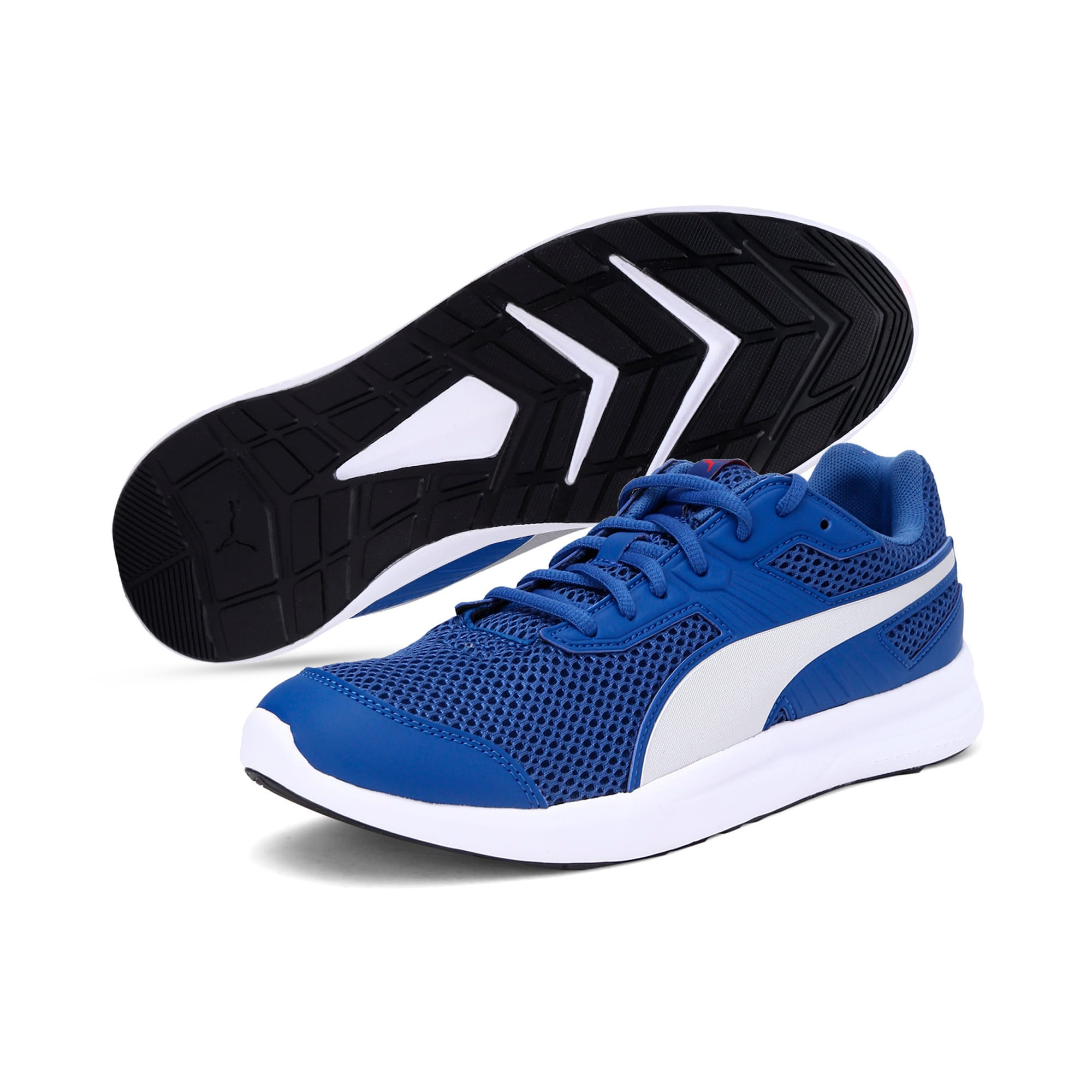 Thumbnail 2 of Escaper Training Shoes, Galaxy Blue-Silver-Red-White, medium-IND