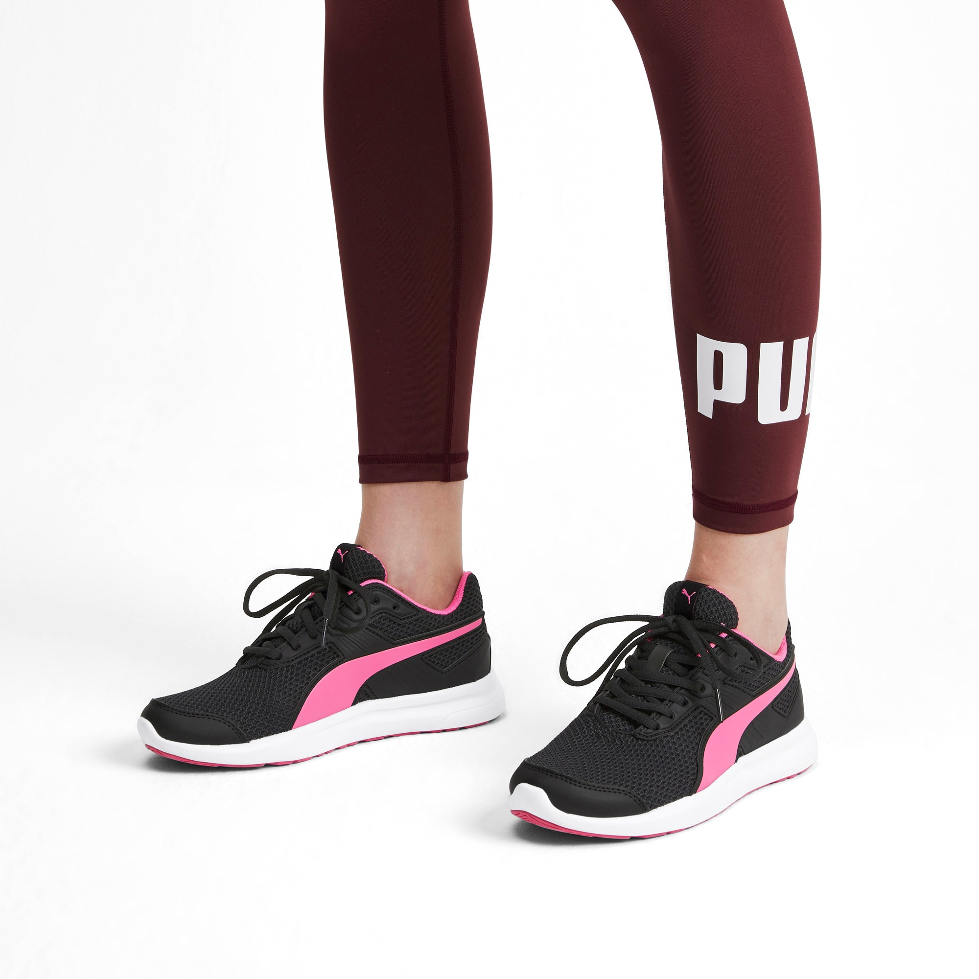 Thumbnail 2 of Escaper Training Shoes, Puma Black-Azalea Pink-White, medium-IND