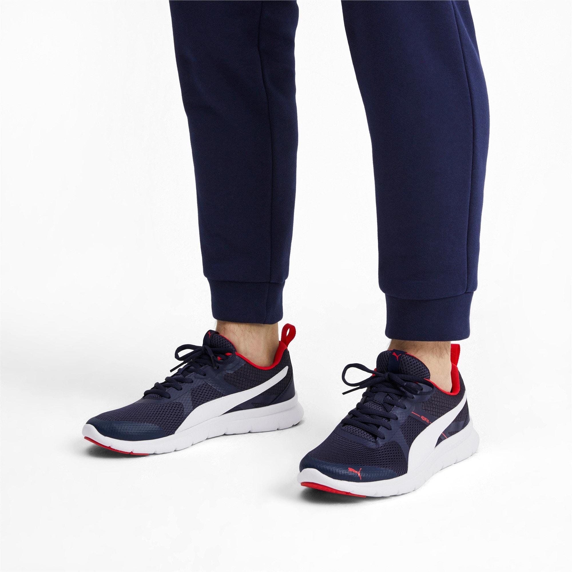 Thumbnail 2 of Flex Essential Training Shoes, Peacoat-P.White-Hi. Risk Red, medium-IND
