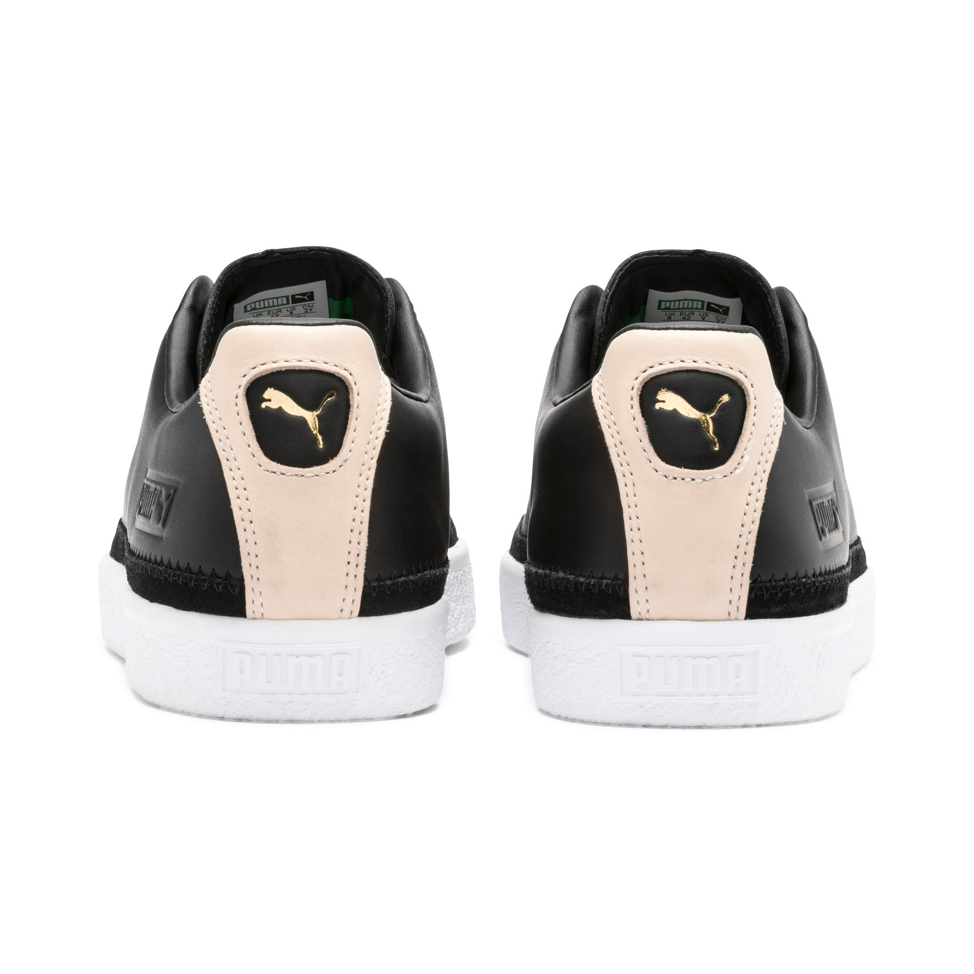 Thumbnail 4 of Basket Trim Block Trainers, P Blk-Puma Team Gold-P Wht, medium