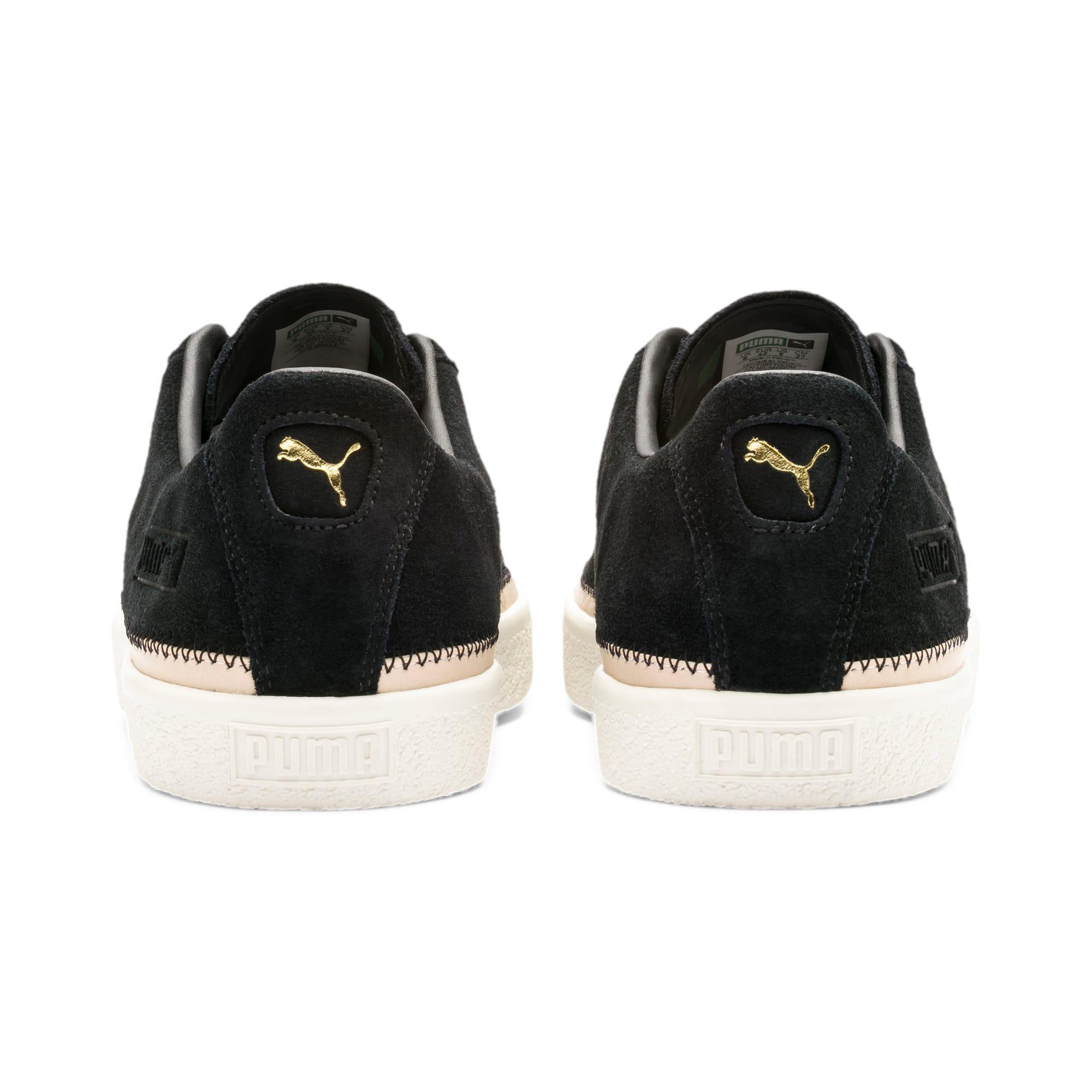 Thumbnail 4 of Suede Trim PRM Sneakers, Puma Black-Whisper White, medium