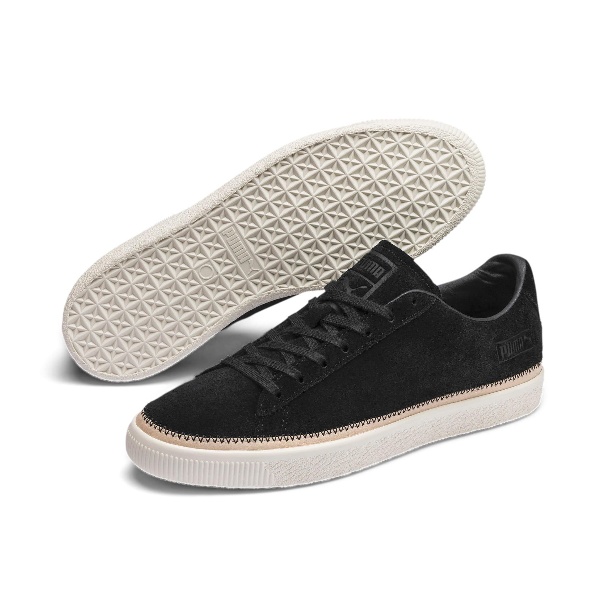 Thumbnail 3 of Suede Trim PRM Sneakers, Puma Black-Whisper White, medium